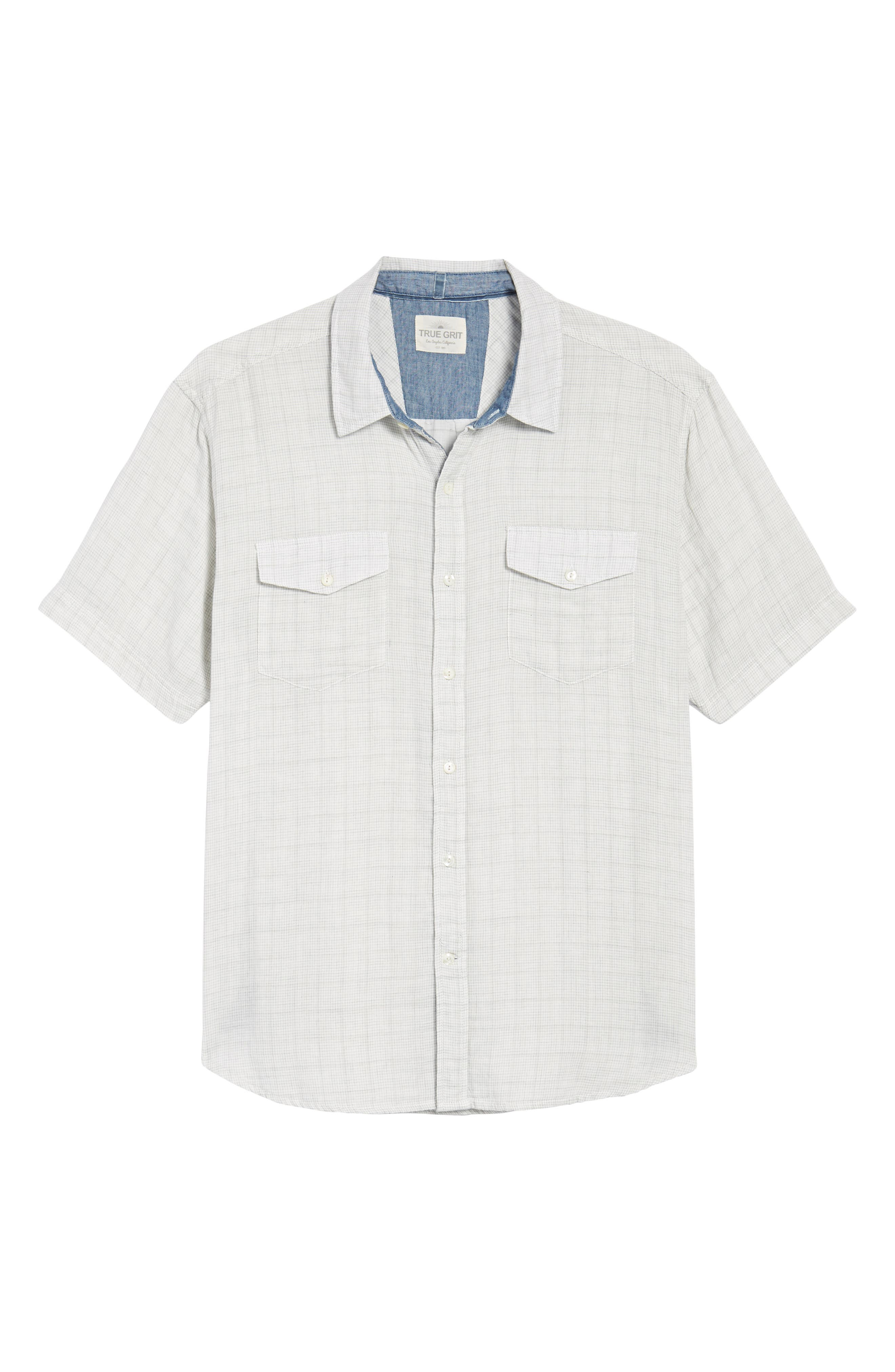 Crossroads Check Sport Shirt,                             Alternate thumbnail 6, color,                             020