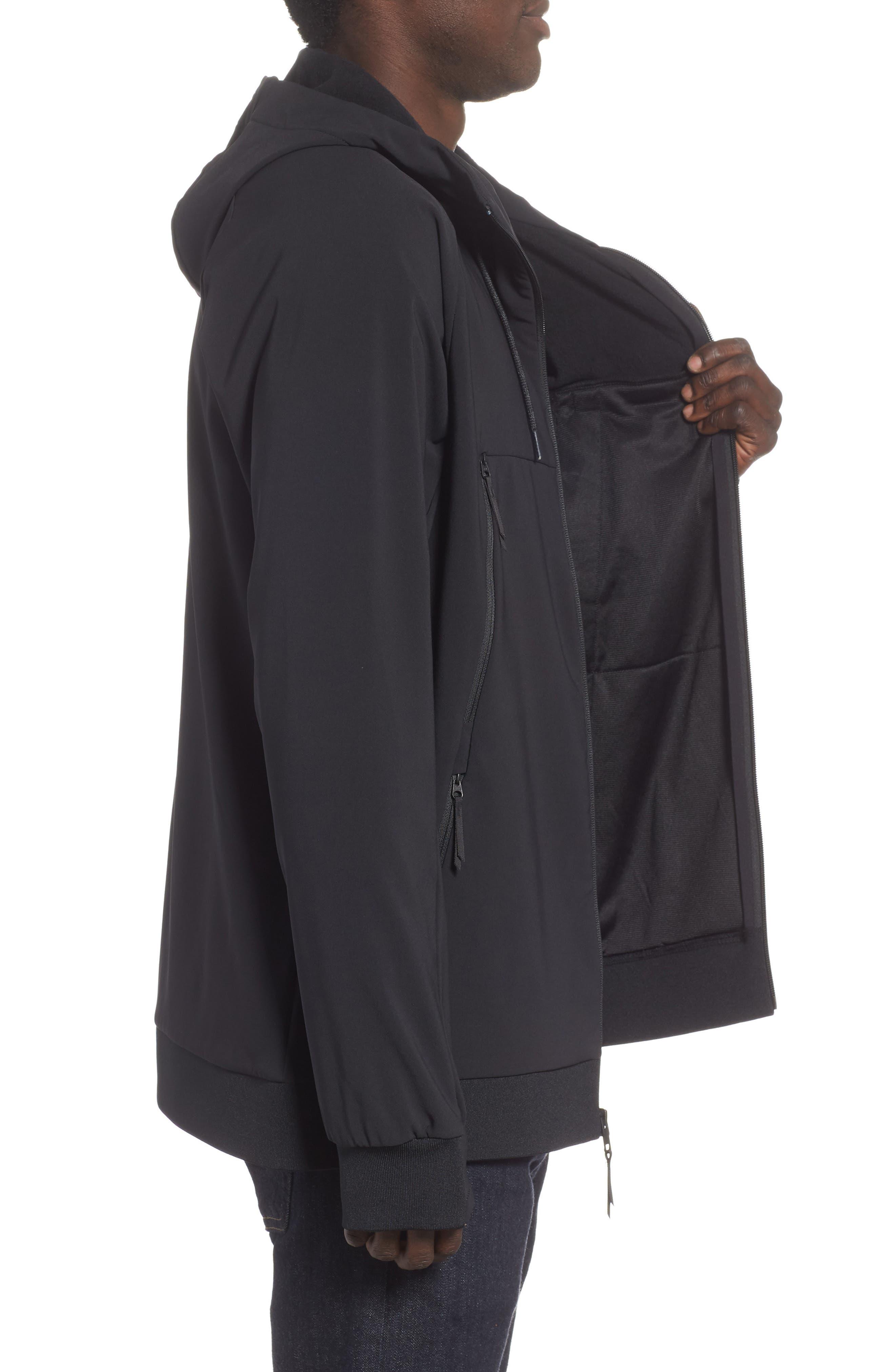 Tekno Zip Jacket,                             Alternate thumbnail 3, color,                             TNF BLACK
