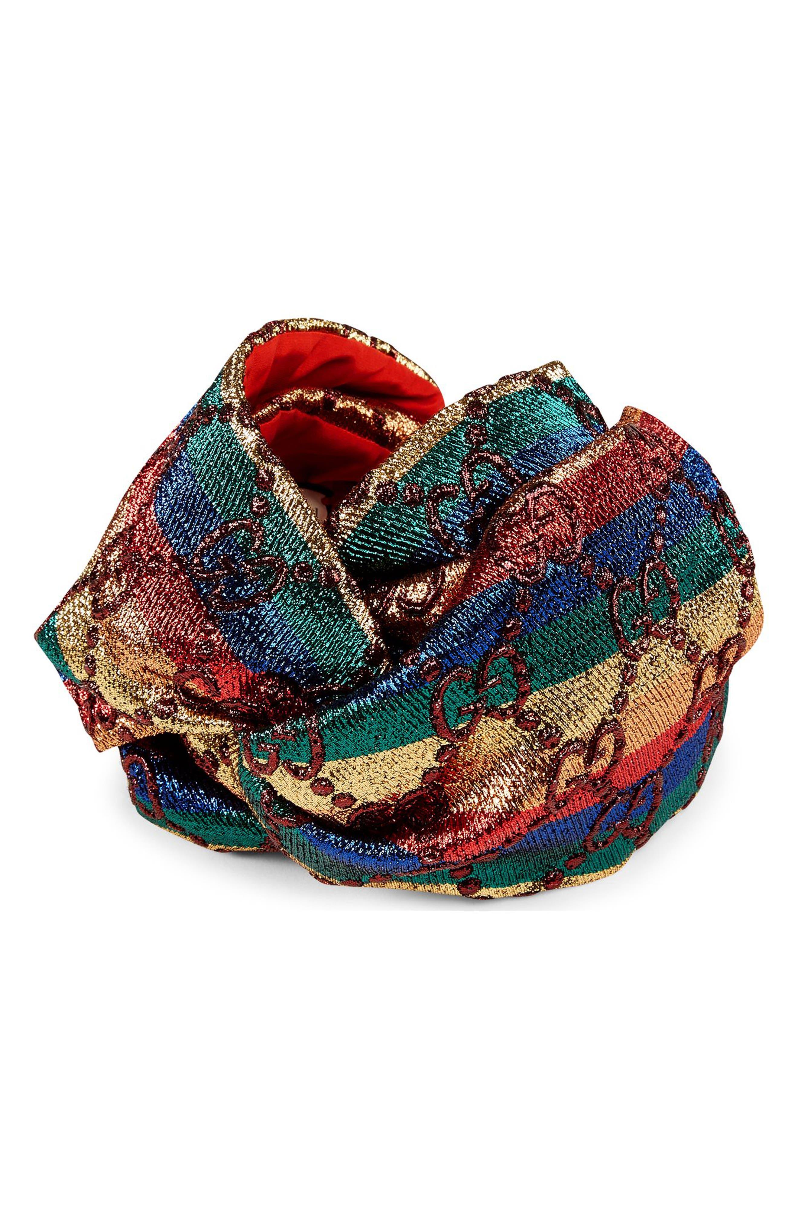 Guccilux Rainbow GG Turban,                         Main,                         color, 989