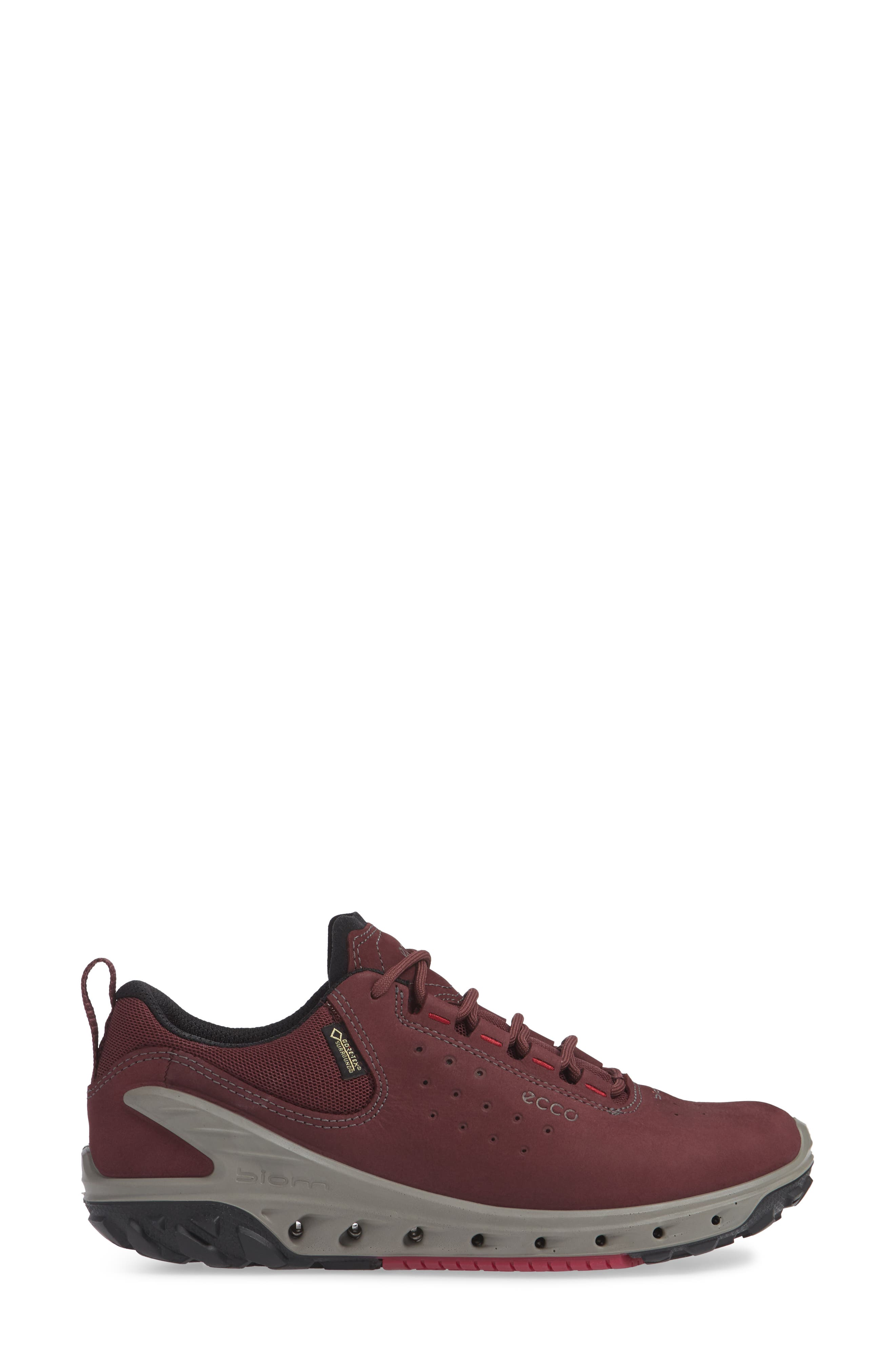 BIOM Venture GTX Sneaker,                             Alternate thumbnail 3, color,                             WINE NUBUCK LEATHER