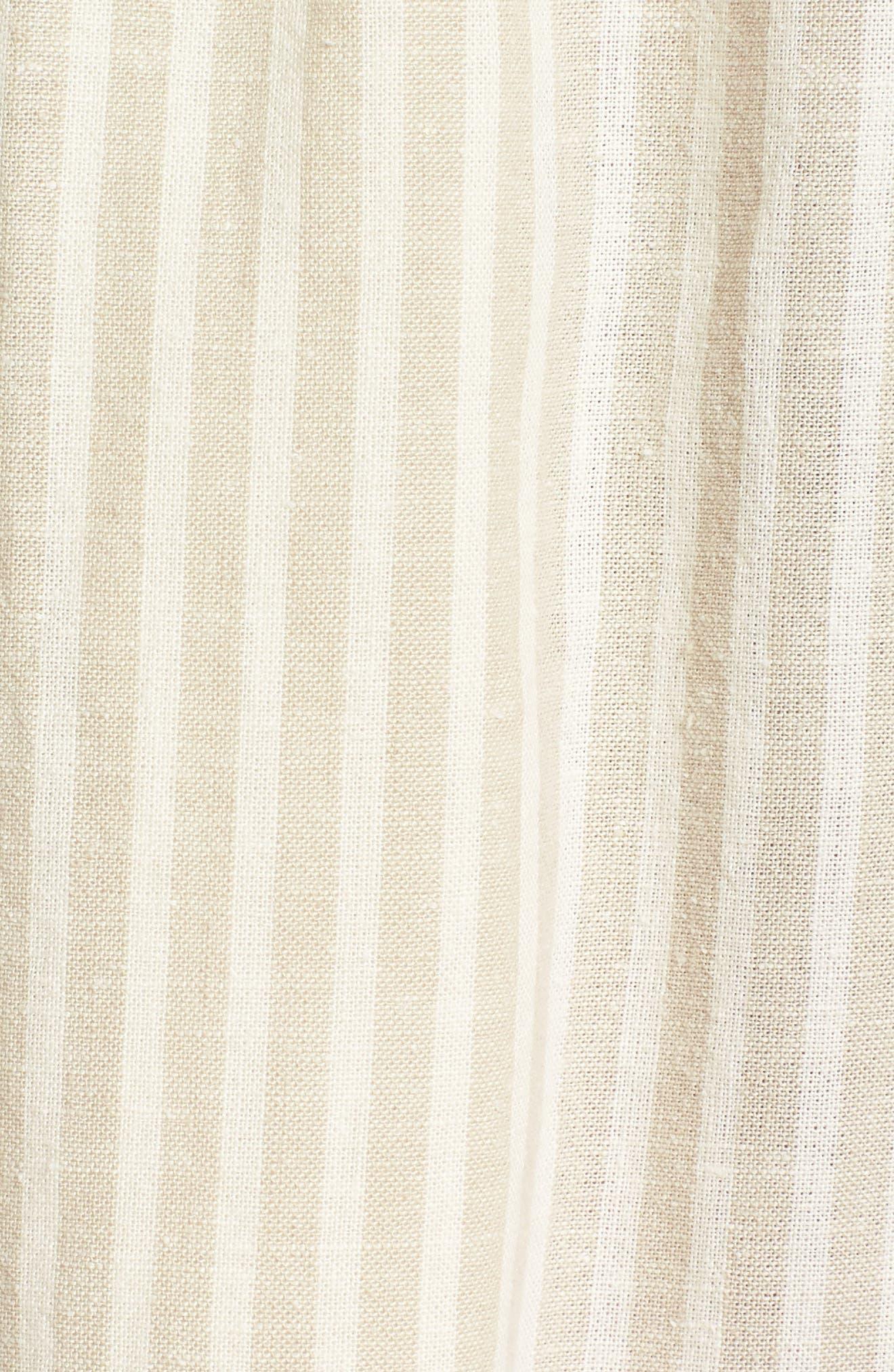 EILEEN FISHER,                             Stripe Hemp & Organic Cotton Midi Skirt,                             Alternate thumbnail 5, color,                             257