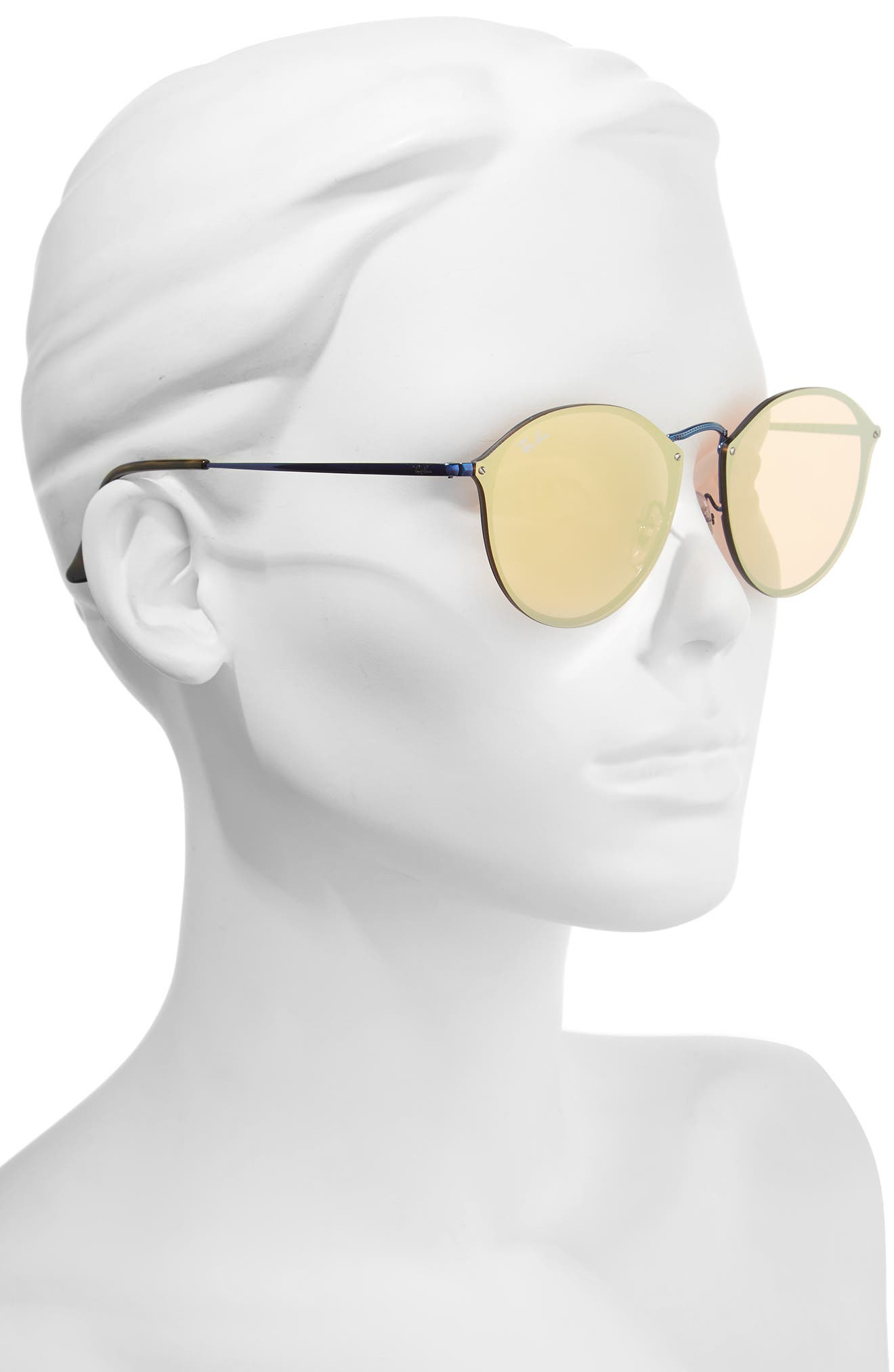 59mm Blaze Round Mirrored Sunglasses,                             Alternate thumbnail 7, color,