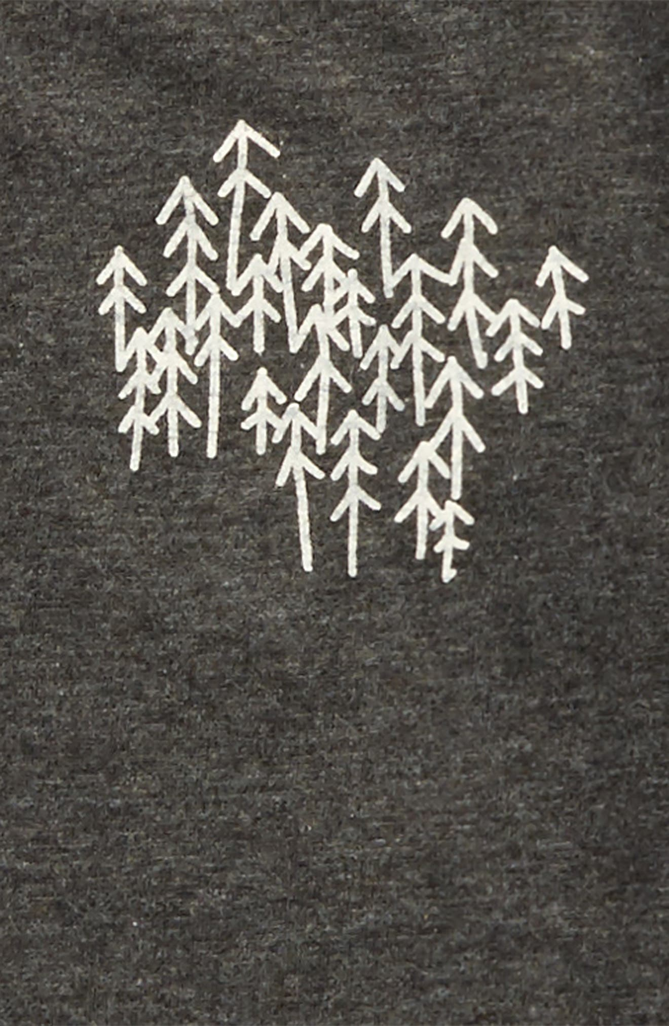 Snowy Trees Organic Cotton T-Shirt,                             Alternate thumbnail 2, color,                             024