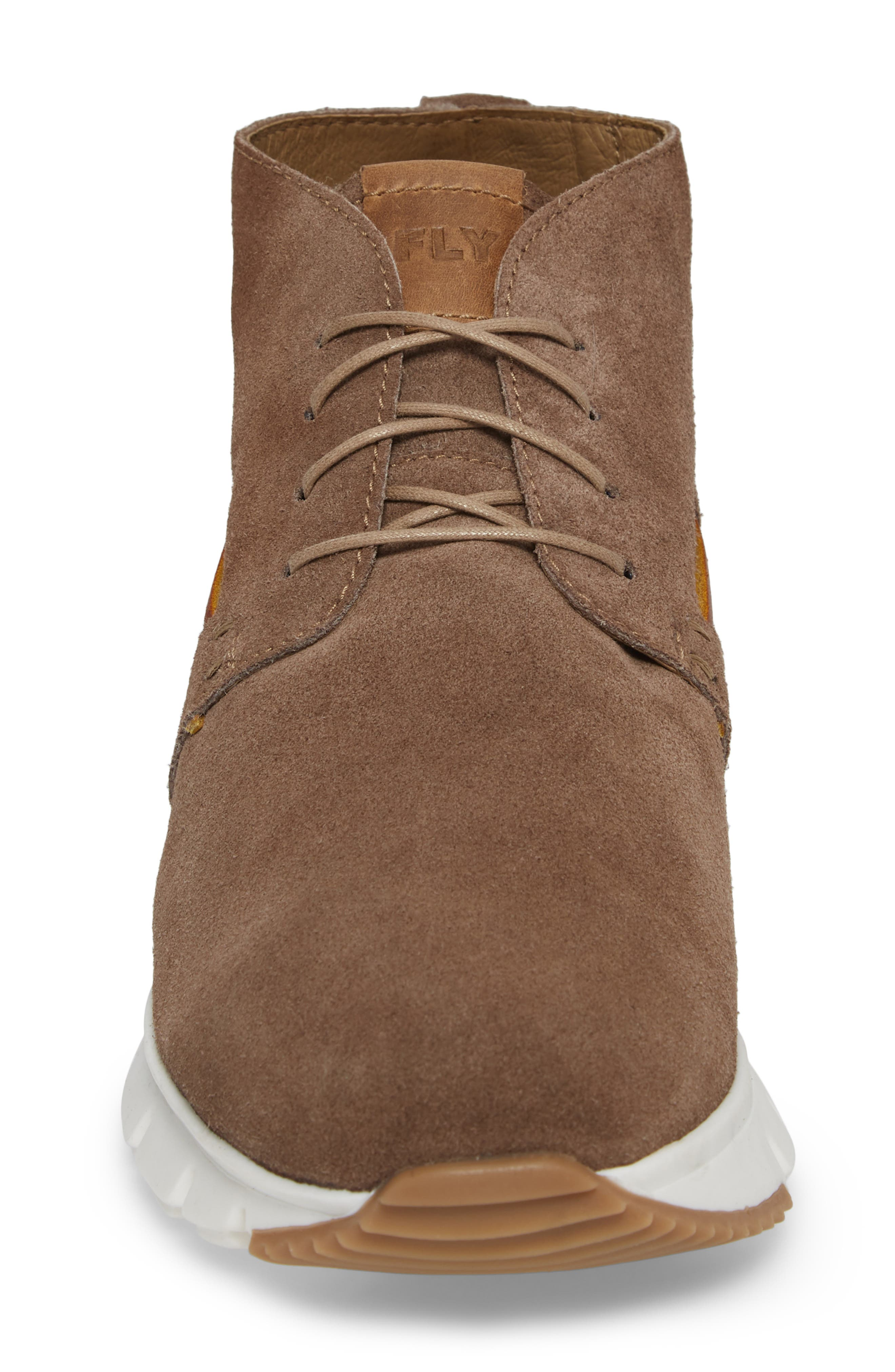 Sky High Top Sneaker,                             Alternate thumbnail 4, color,                             TAUPE SUEDE