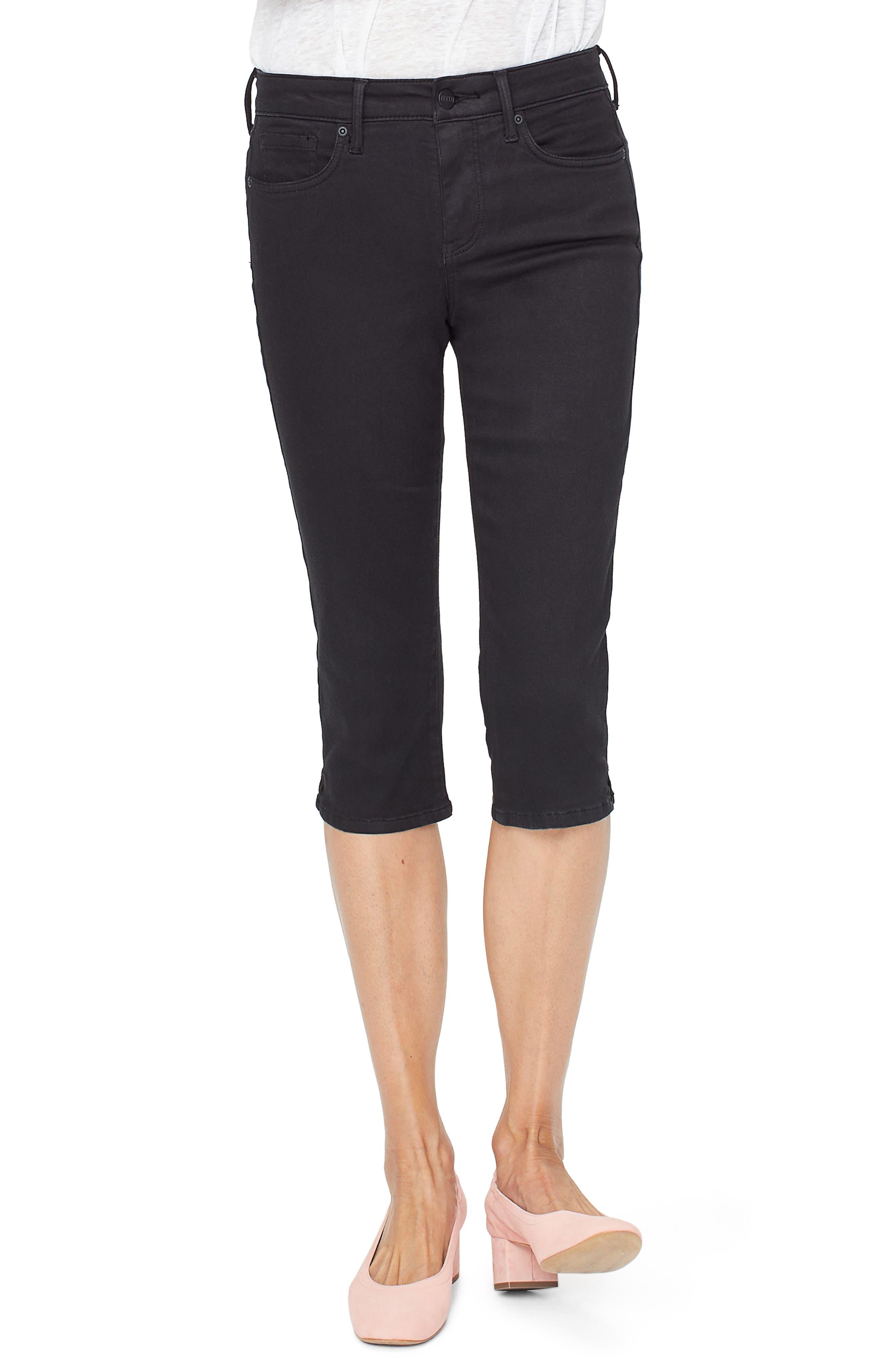 Nydj Capri Skinny Jeans, Black