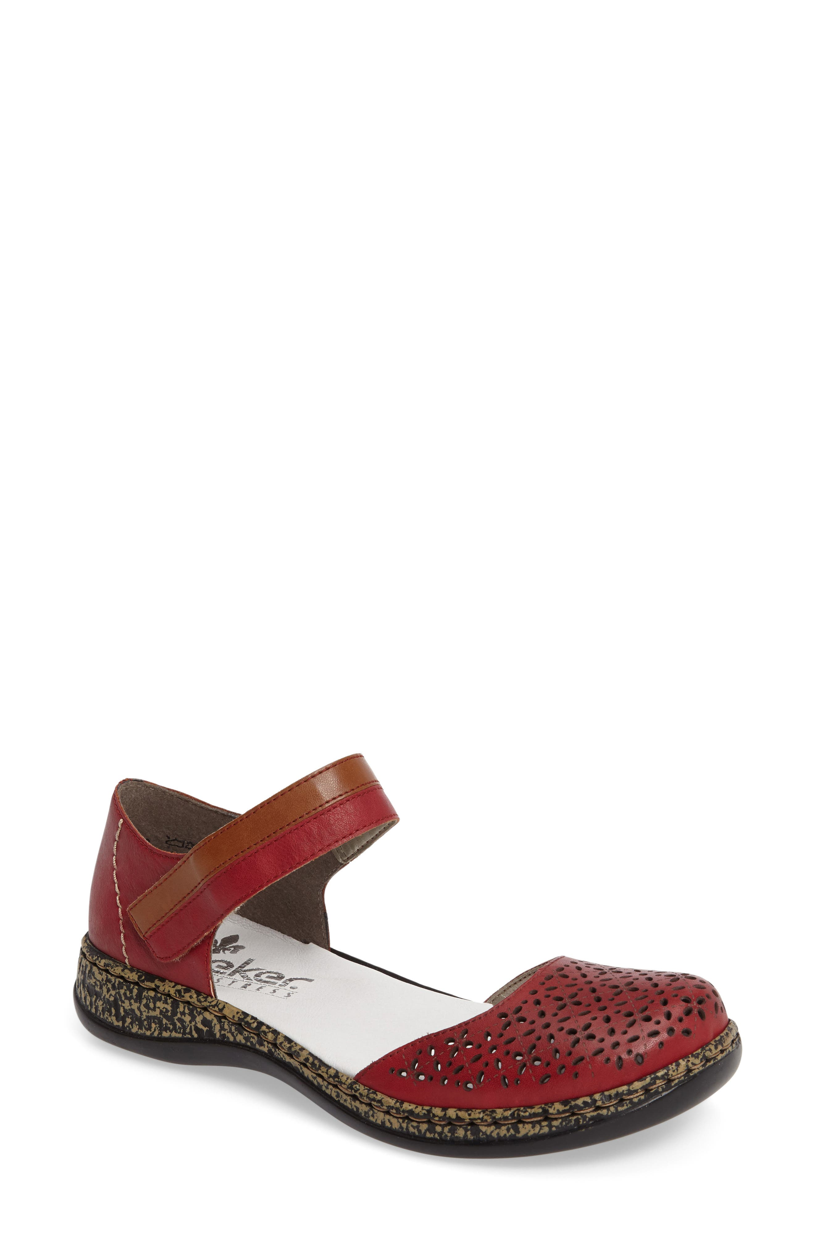 Daisy 10 Mary Jane Flat,                         Main,                         color, ROSSO LEATHER