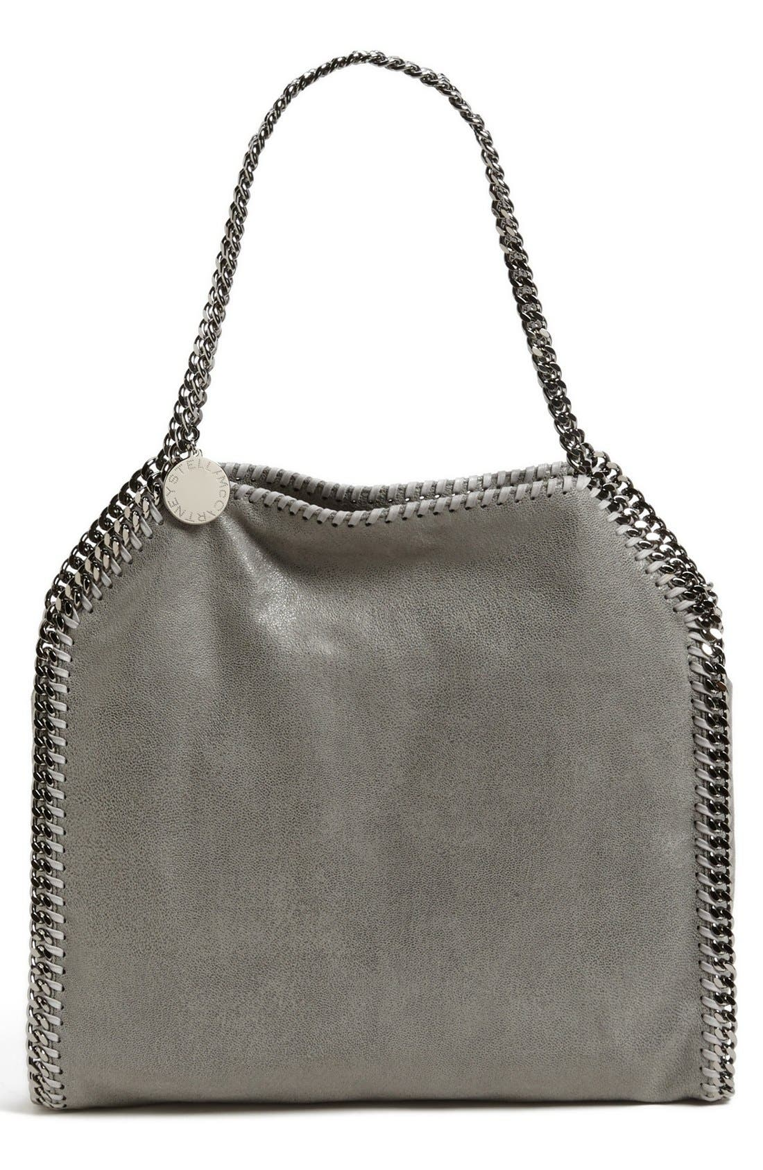'Small Falabella - Shaggy Deer' Faux Leather Tote,                             Main thumbnail 1, color,                             LT.GREY