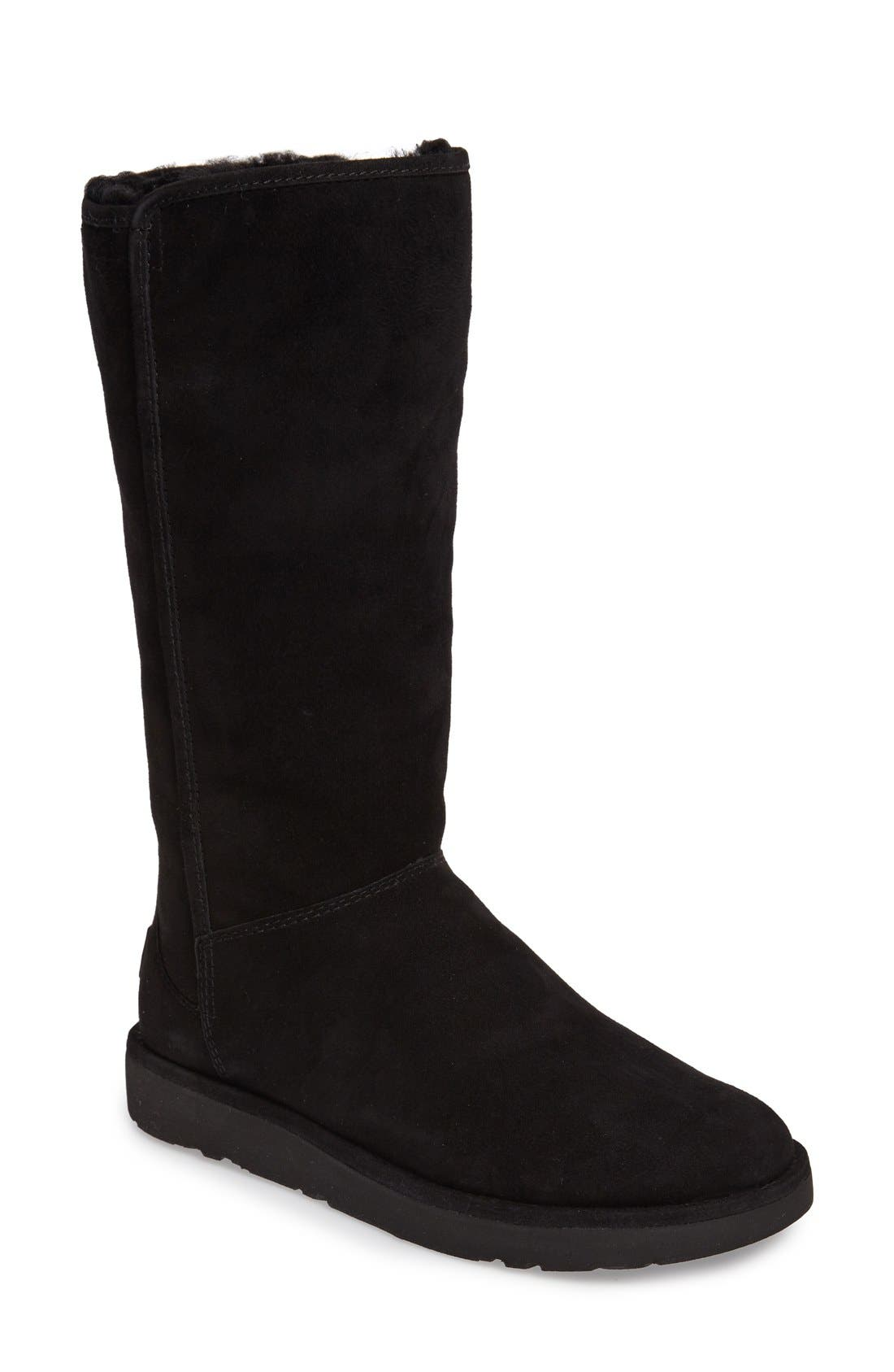 Abree II Tall Boot,                         Main,                         color, NERO SUEDE