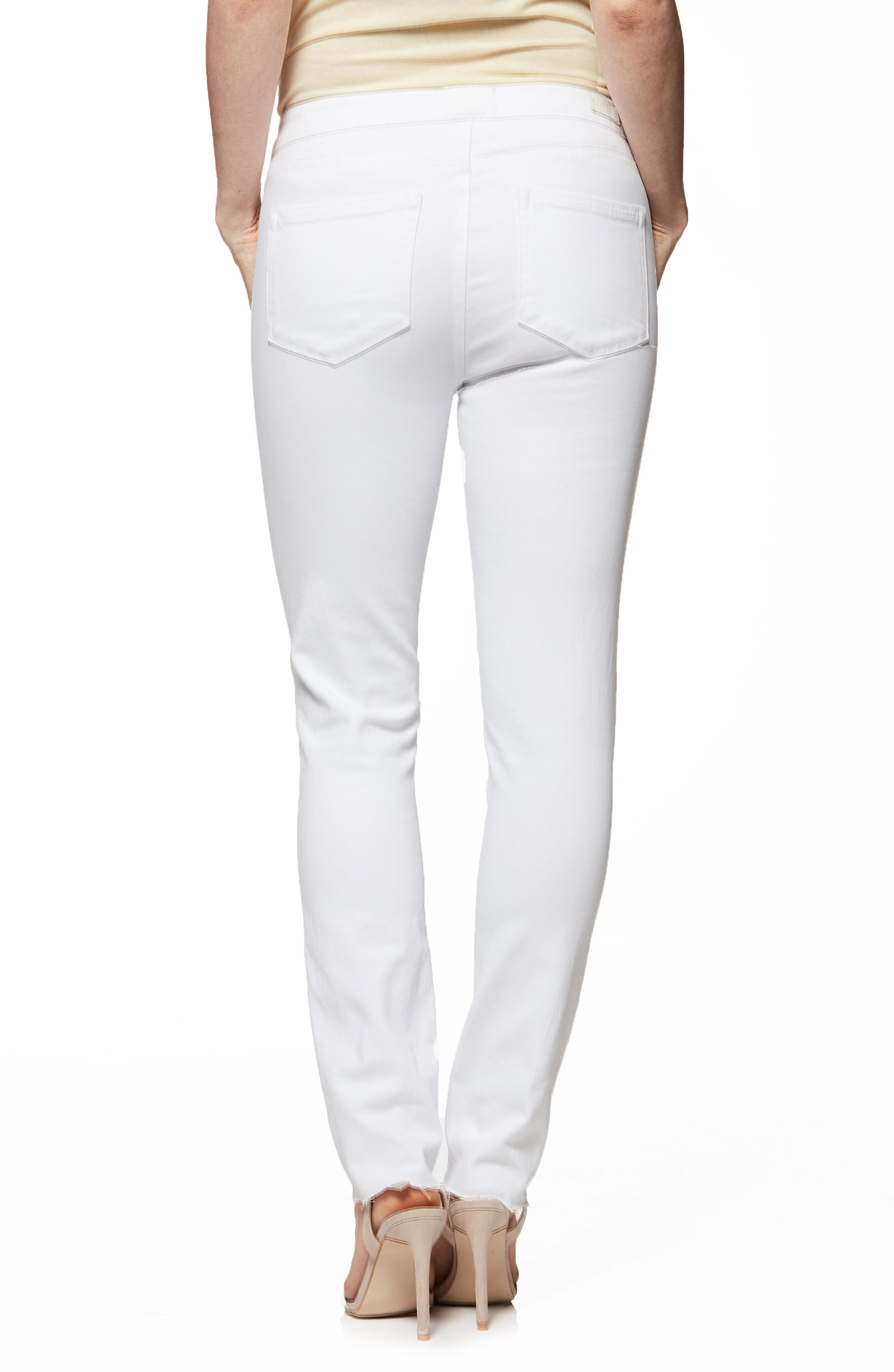 PAIGE,                             Hoxton High Waist Ankle Skinny Jeans,                             Alternate thumbnail 2, color,                             100