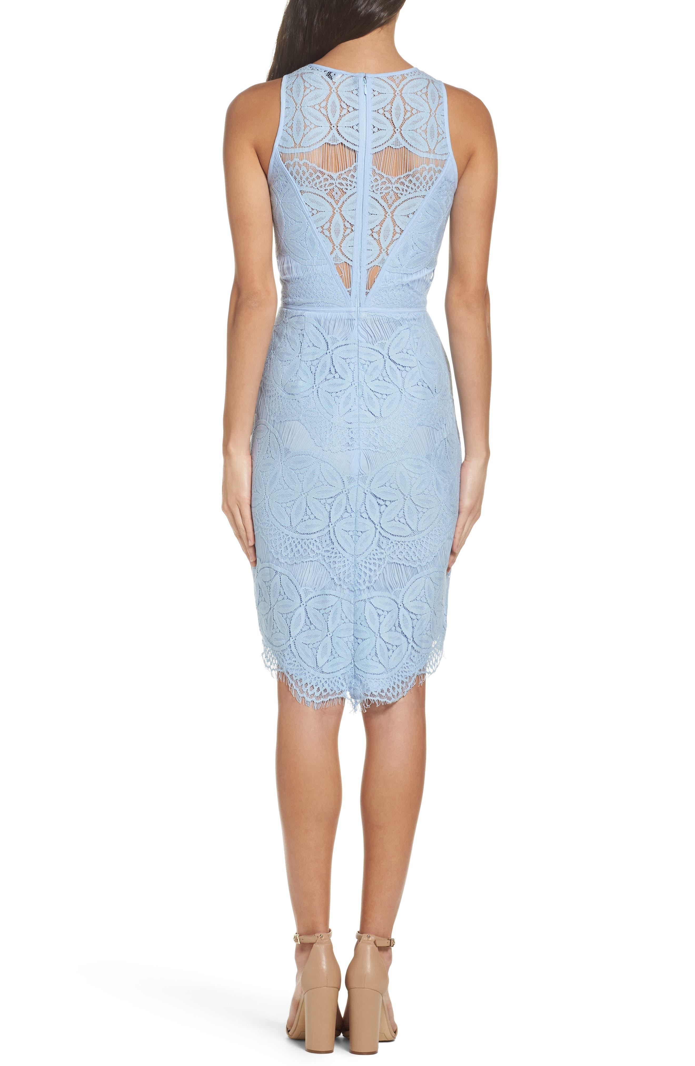 Lace High/Low Sheath Dress,                             Alternate thumbnail 15, color,