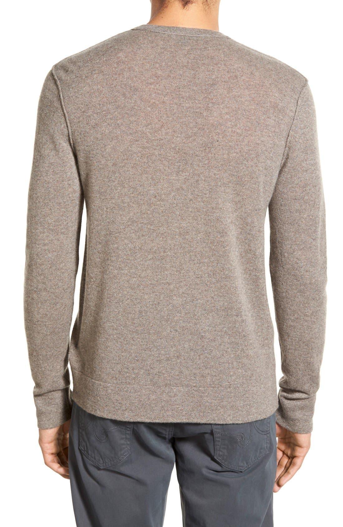 Cashmere V-Neck Sweater,                             Alternate thumbnail 4, color,