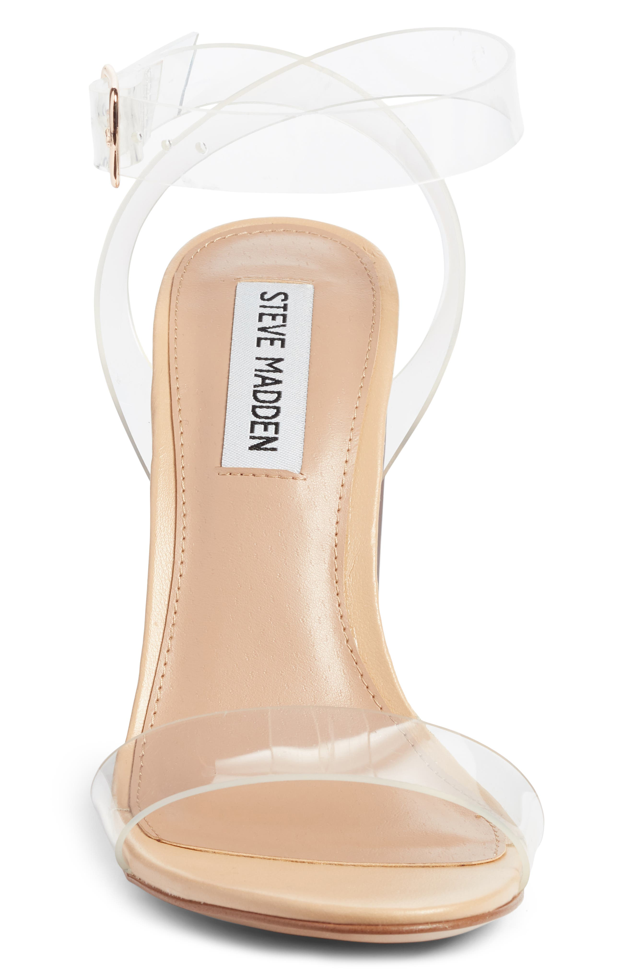 Camille Clear Sandal,                             Alternate thumbnail 4, color,                             CLEAR