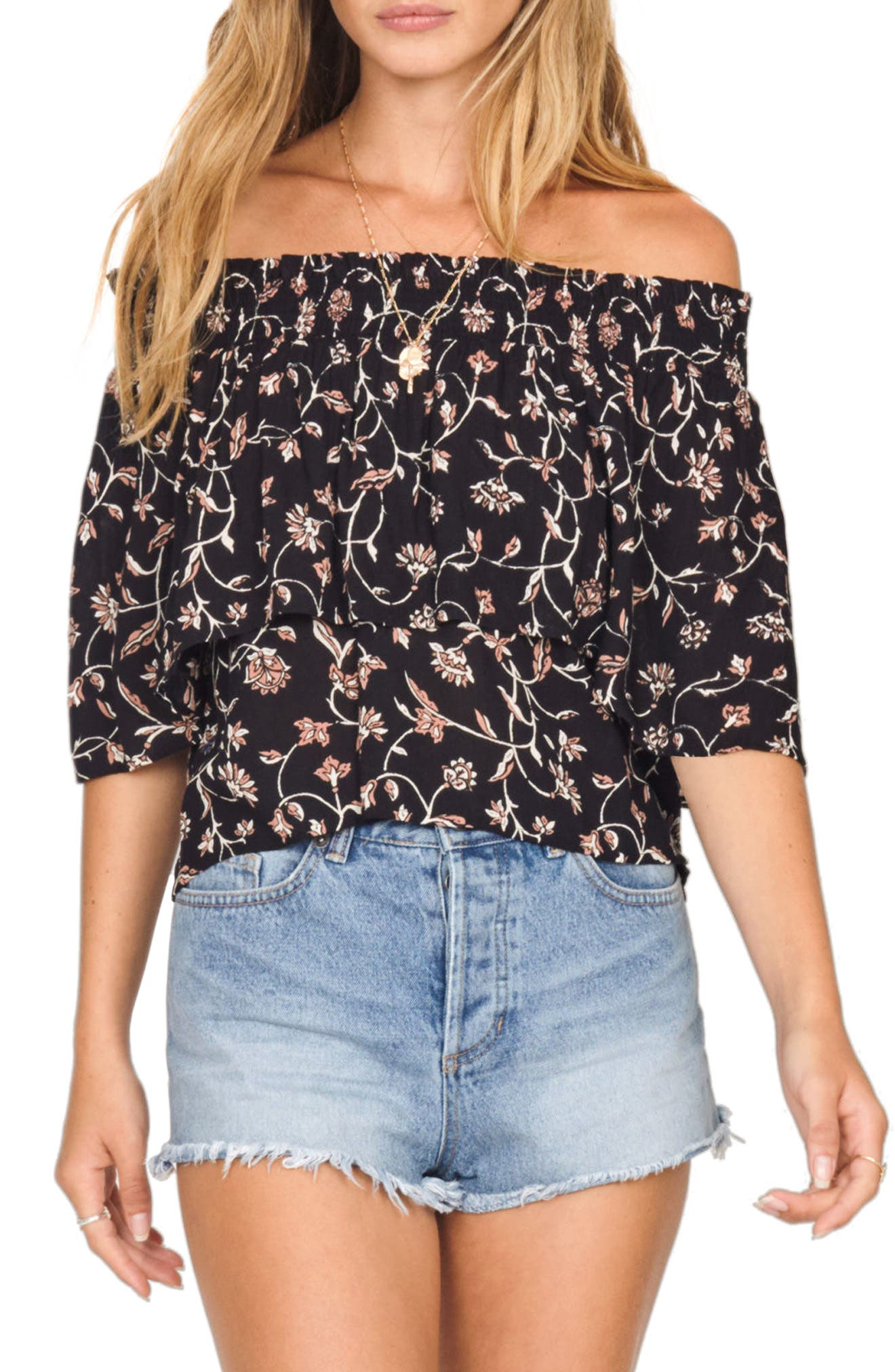 In Your Dreams Off the Shoulder Top,                             Main thumbnail 1, color,