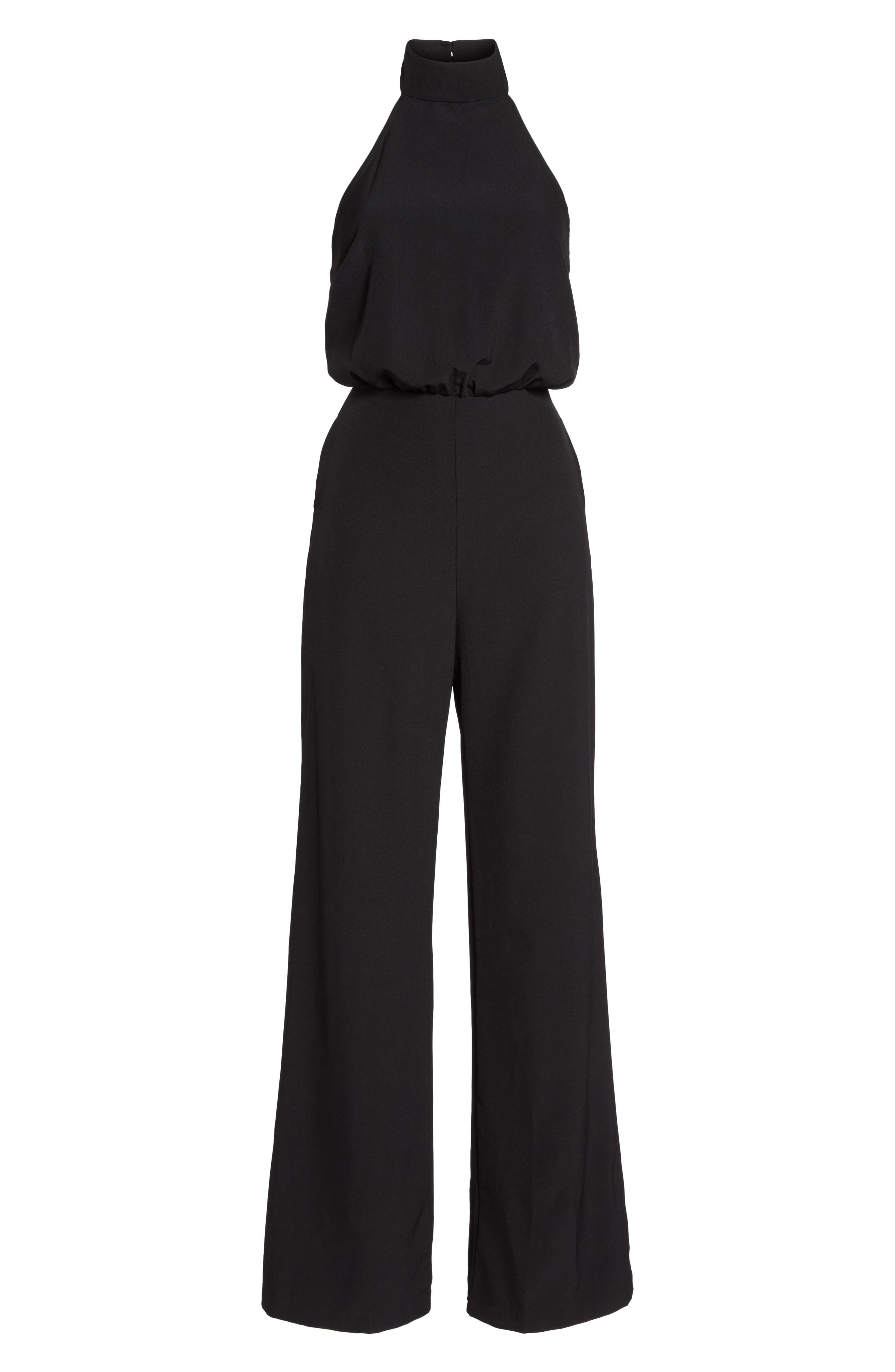 Moment for Life Halter Jumpsuit,                             Alternate thumbnail 7, color,                             BLACK