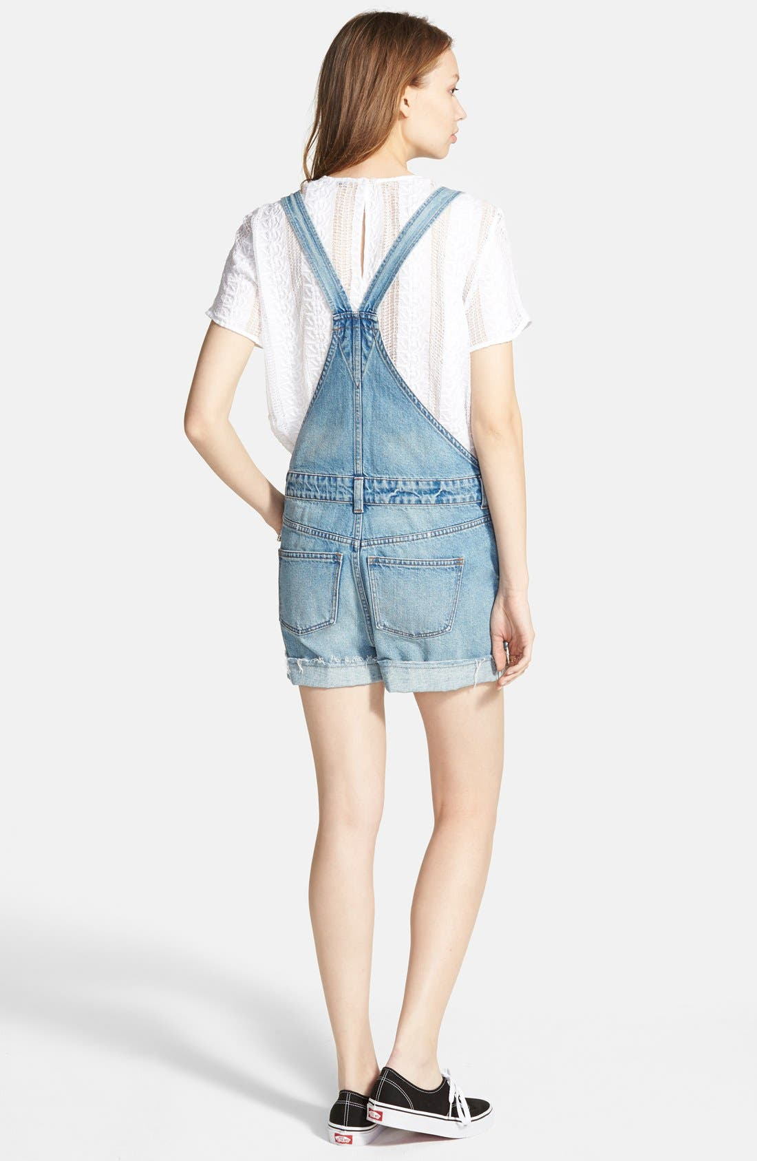 MADEWELL,                             'Adirondack' Short Overalls,                             Alternate thumbnail 3, color,                             400