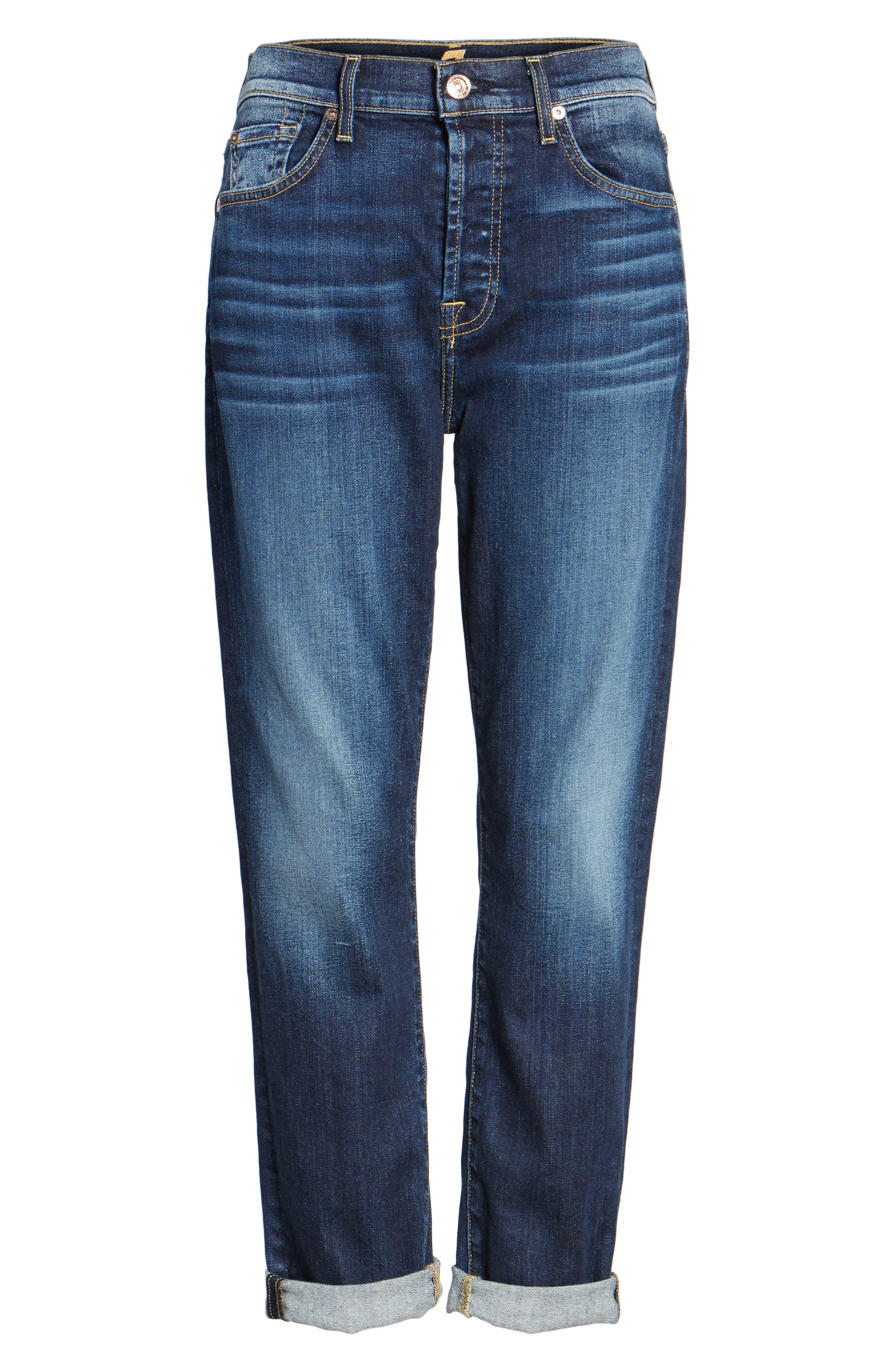 Josefina High Waist Crop Boyfriend Jeans,                             Alternate thumbnail 12, color,