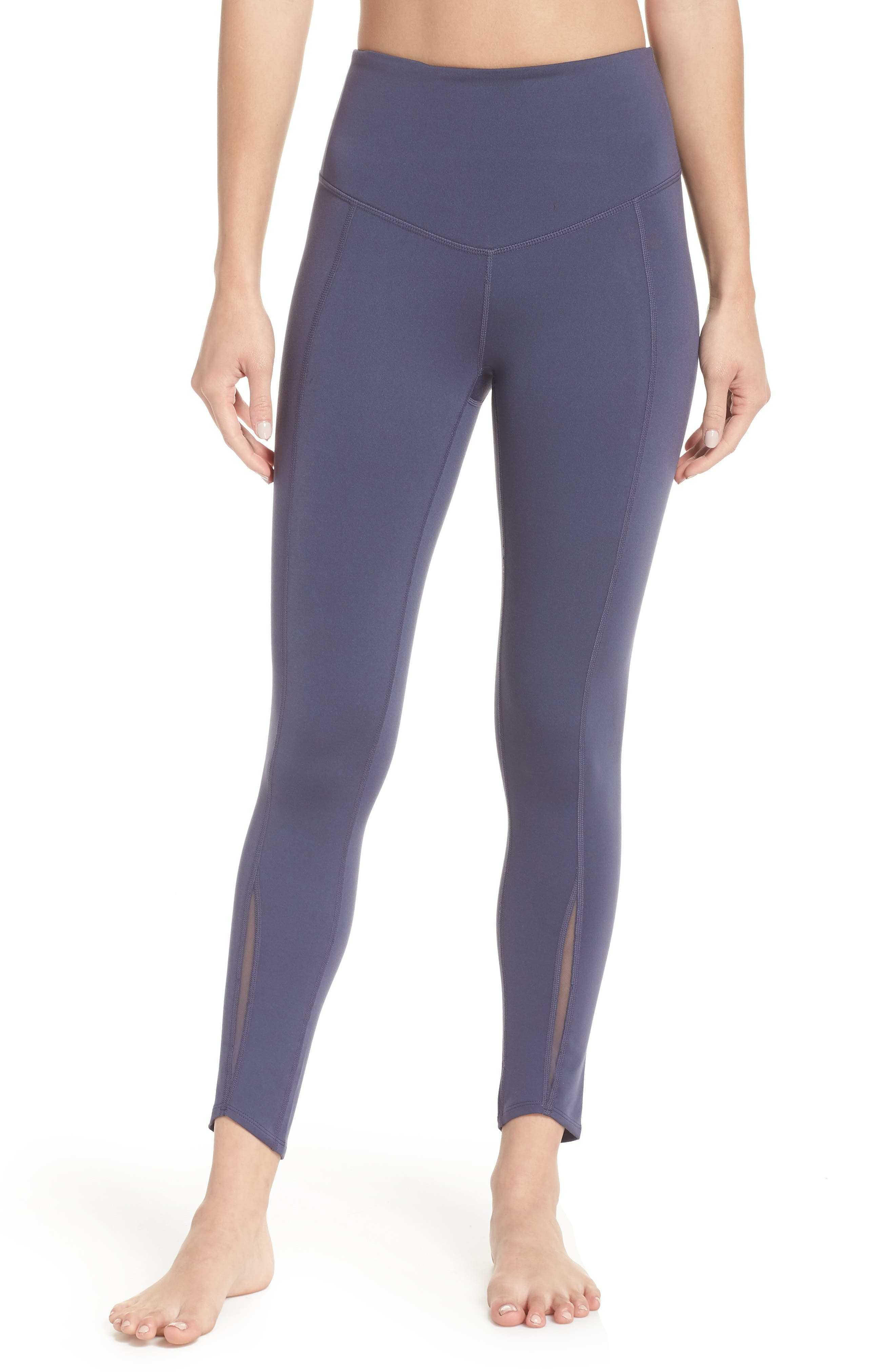 Refocus Recycled High Waist Midi Leggings,                         Main,                         color, 021