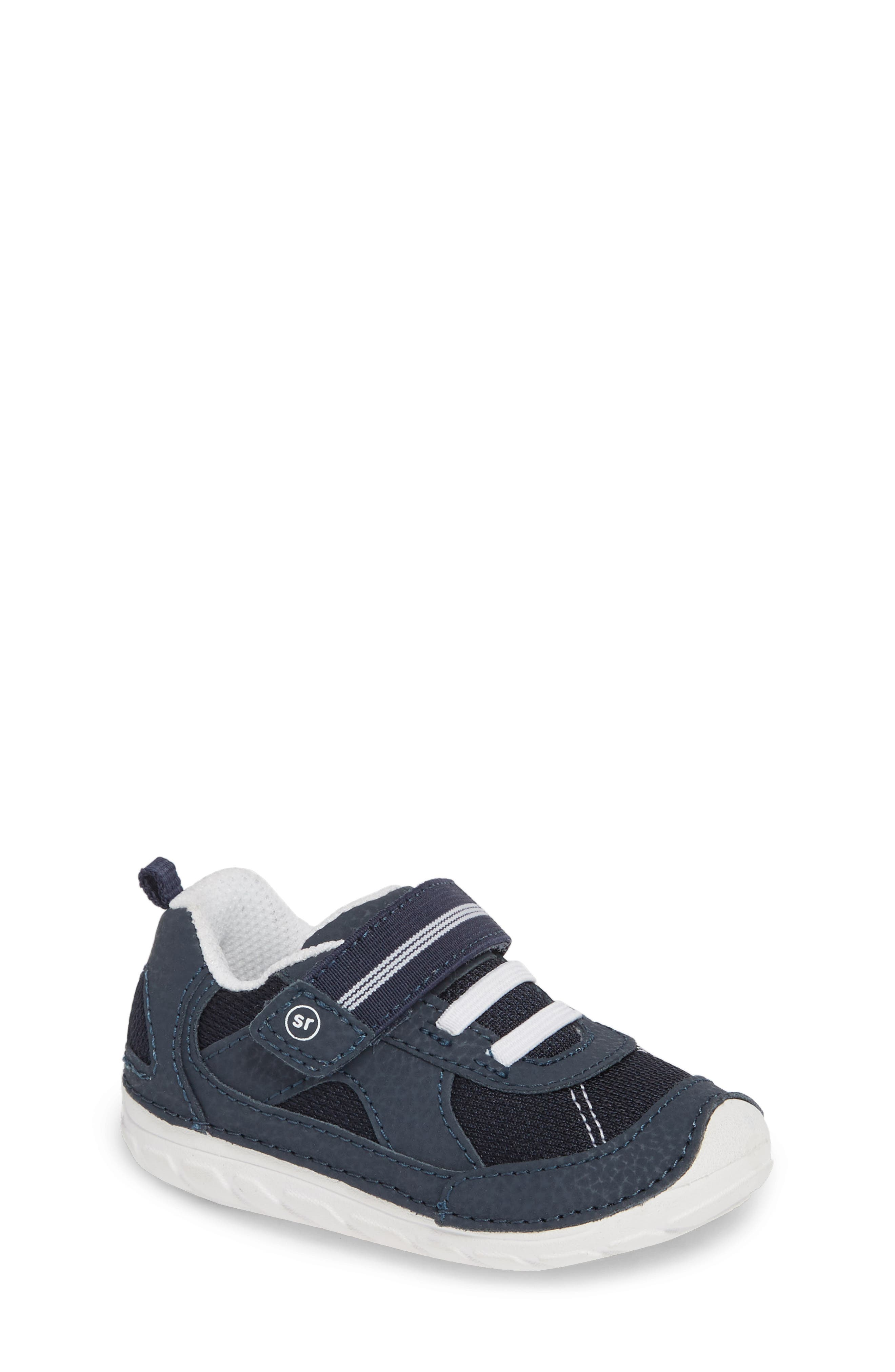 STRIDE RITE,                             Soft Motion<sup>™</sup> Jamie Sneaker,                             Main thumbnail 1, color,                             NAVY/ WHITE