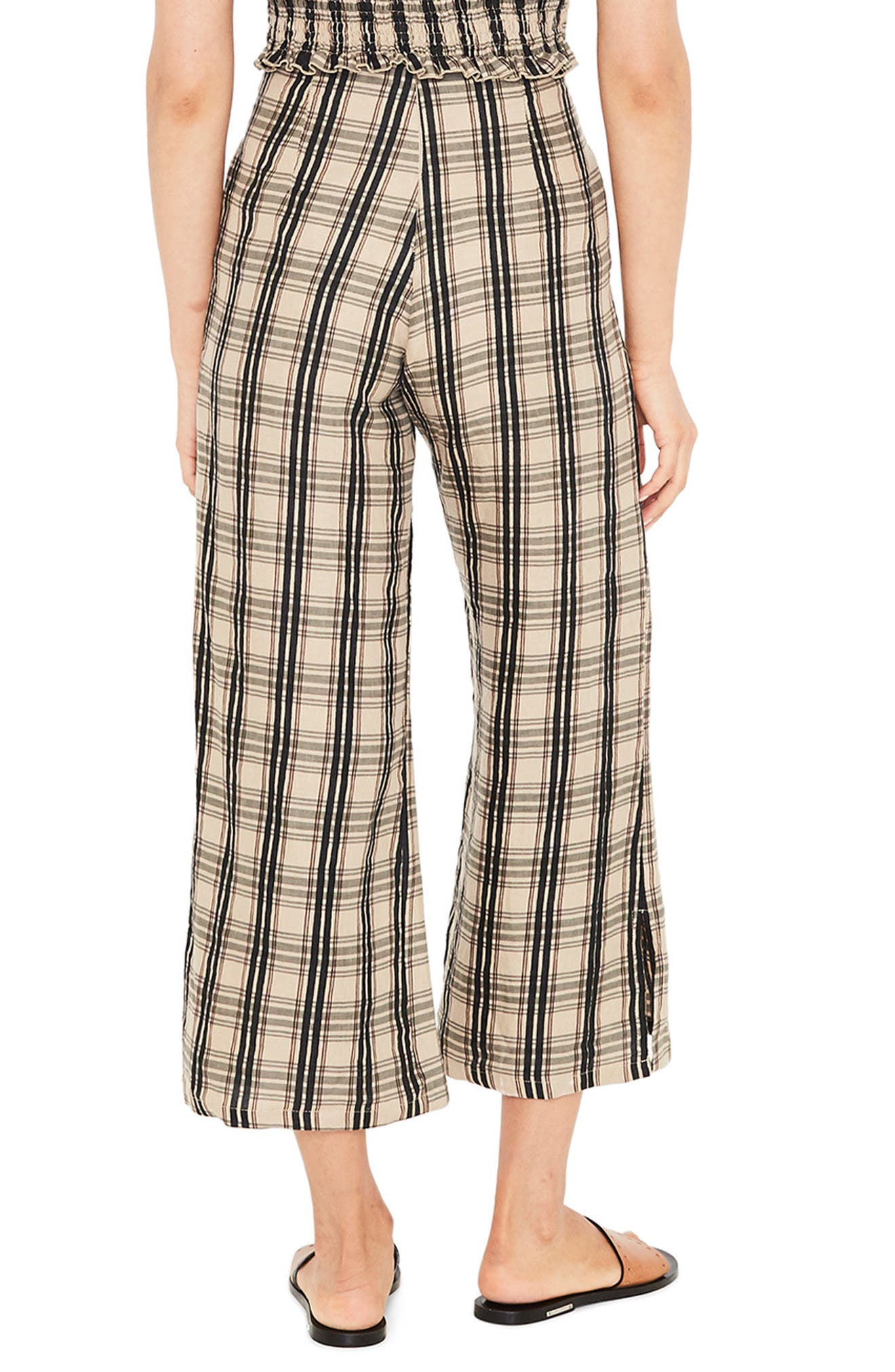 Carmen Plaid Crop Flare Pants,                             Alternate thumbnail 2, color,                             HILLARY PRINT