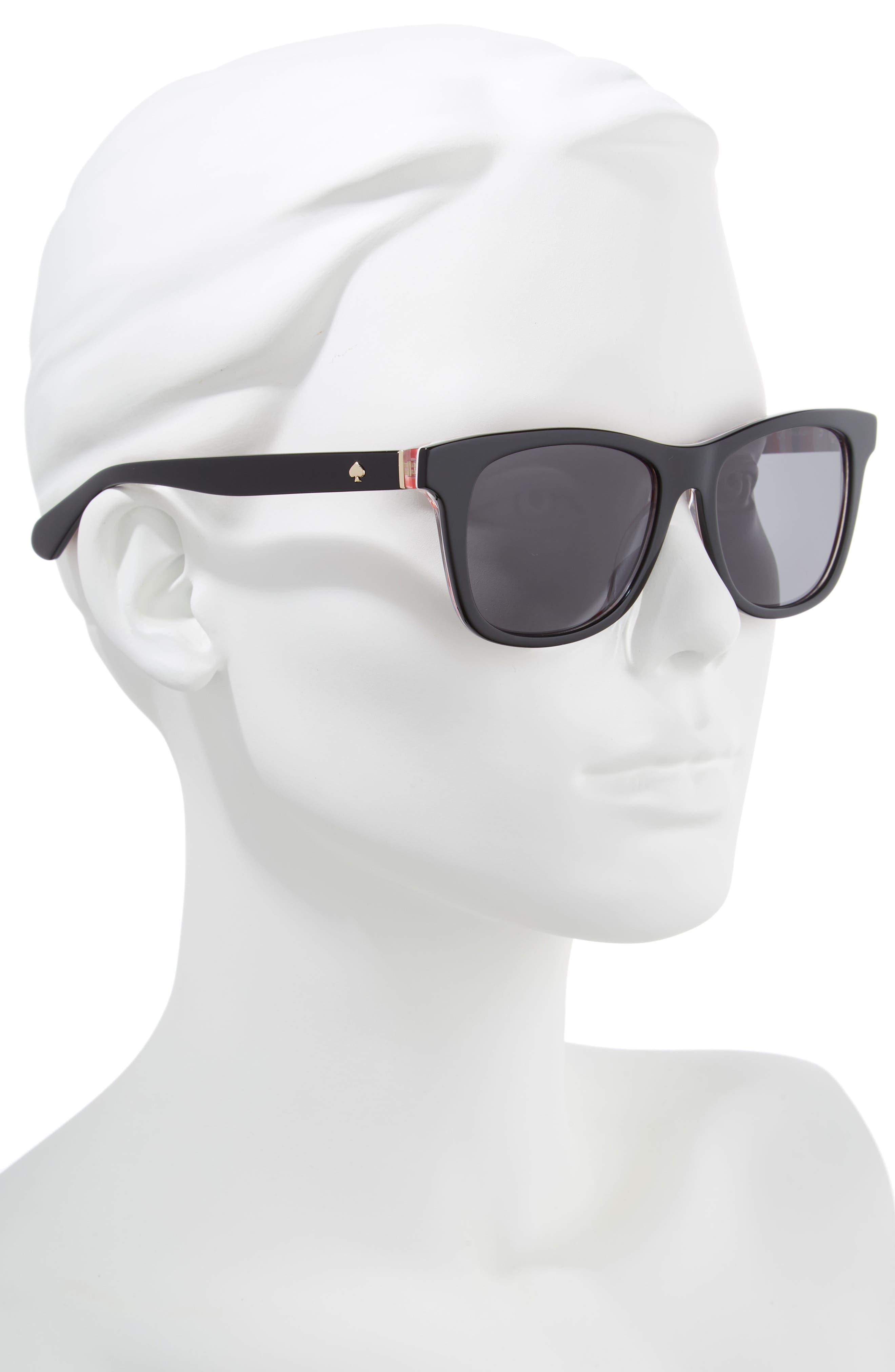 charmine 53mm gradient lens sunglasses,                             Alternate thumbnail 2, color,                             BLACK