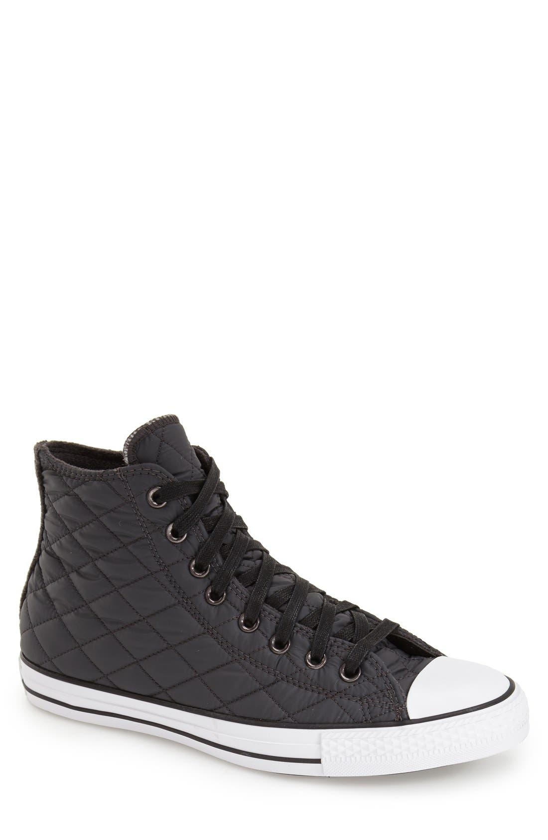 CONVERSE Chuck Taylor<sup>®</sup> All Star<sup>®</sup> Quilted High Top Sneaker, Main, color, 020