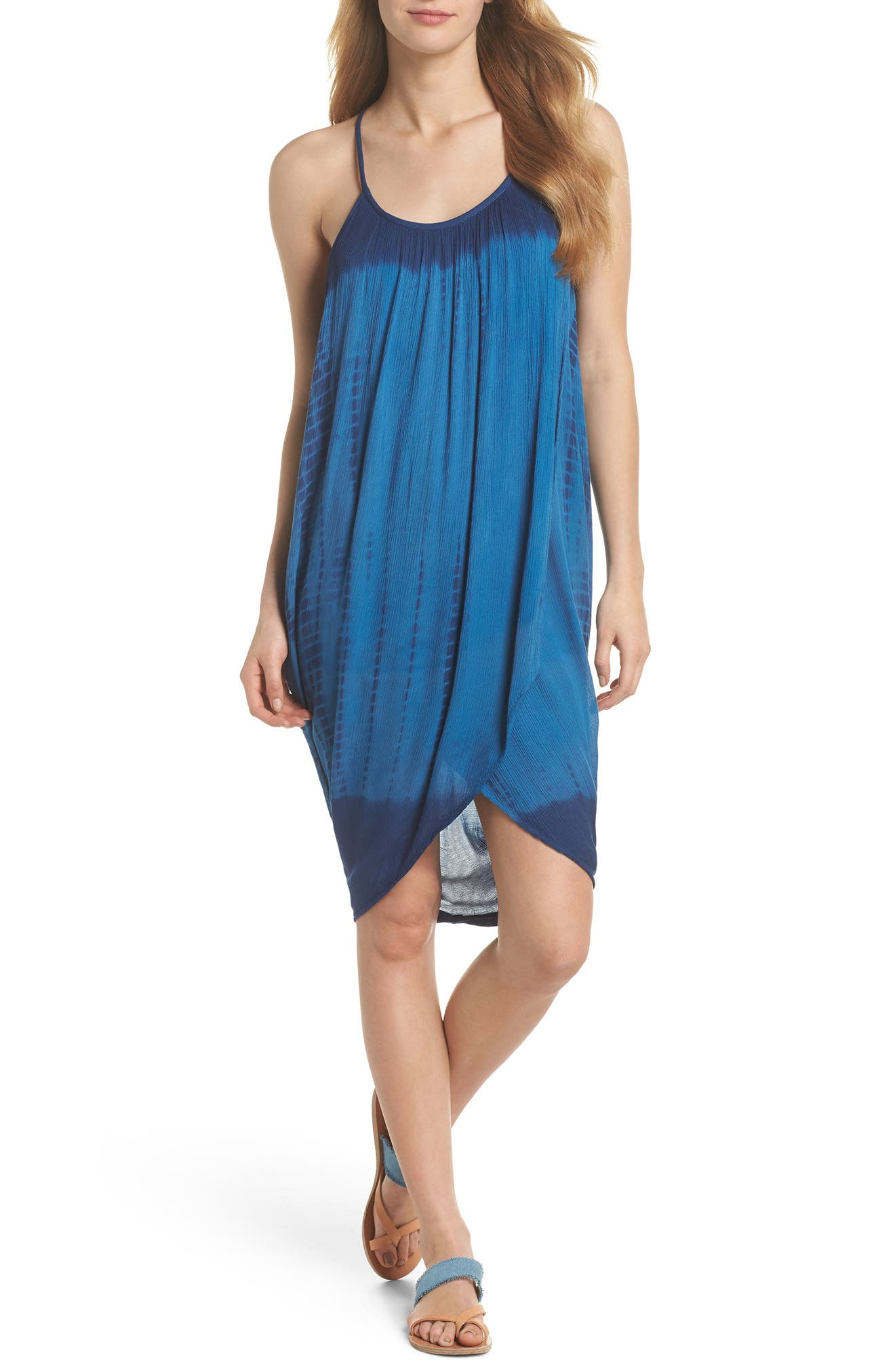 High Tide Pali Wrap Cover-Up Dress,                         Main,                         color, 400