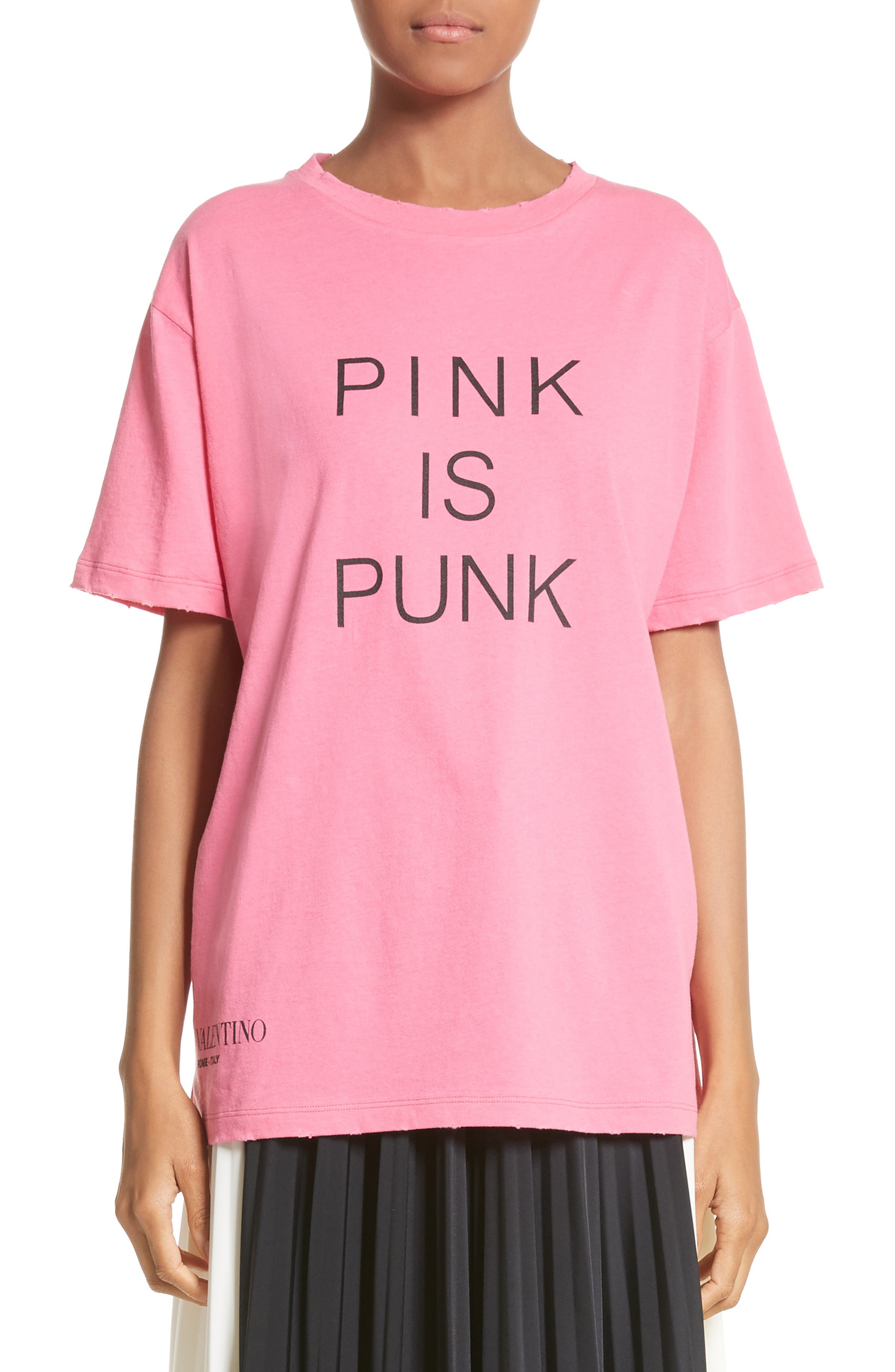 Pink Is Punk Cotton Tee,                         Main,                         color, 664
