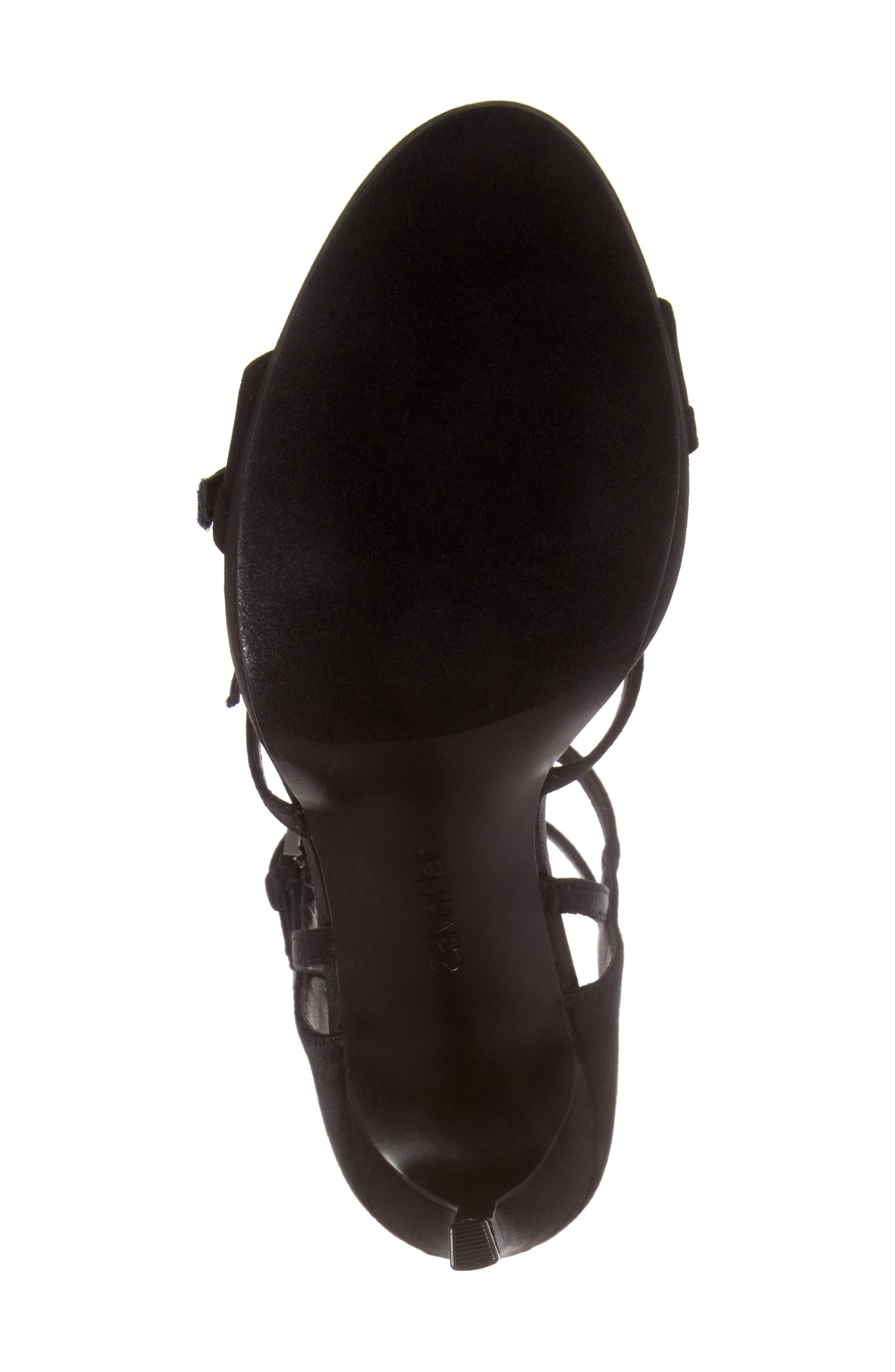 Shantell Strappy Platform Sandal,                             Alternate thumbnail 6, color,                             001