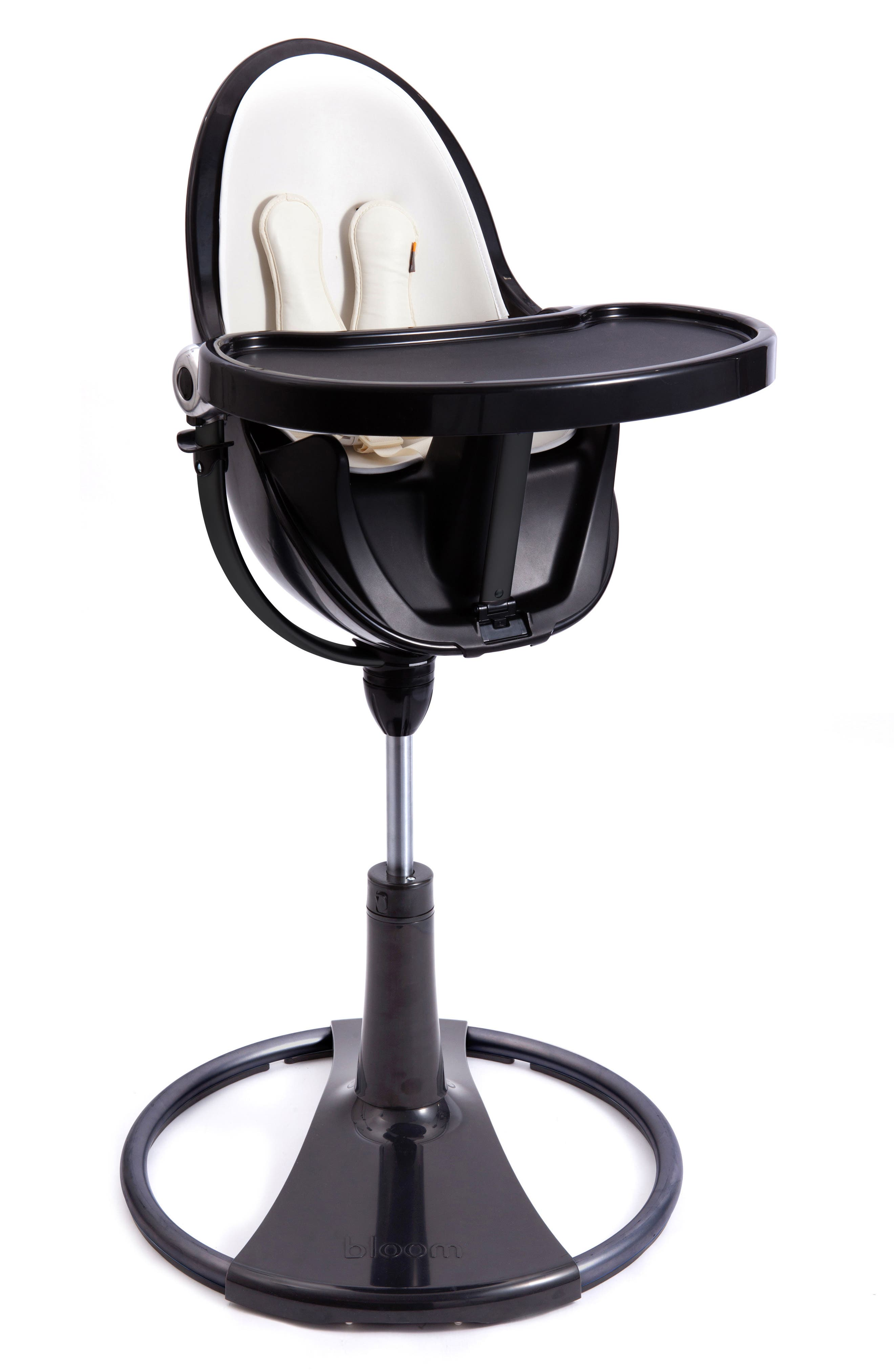 Fresco<sup>™</sup> Chrome Highchair,                         Main,                         color, NOIR/ COCONUT WHITE