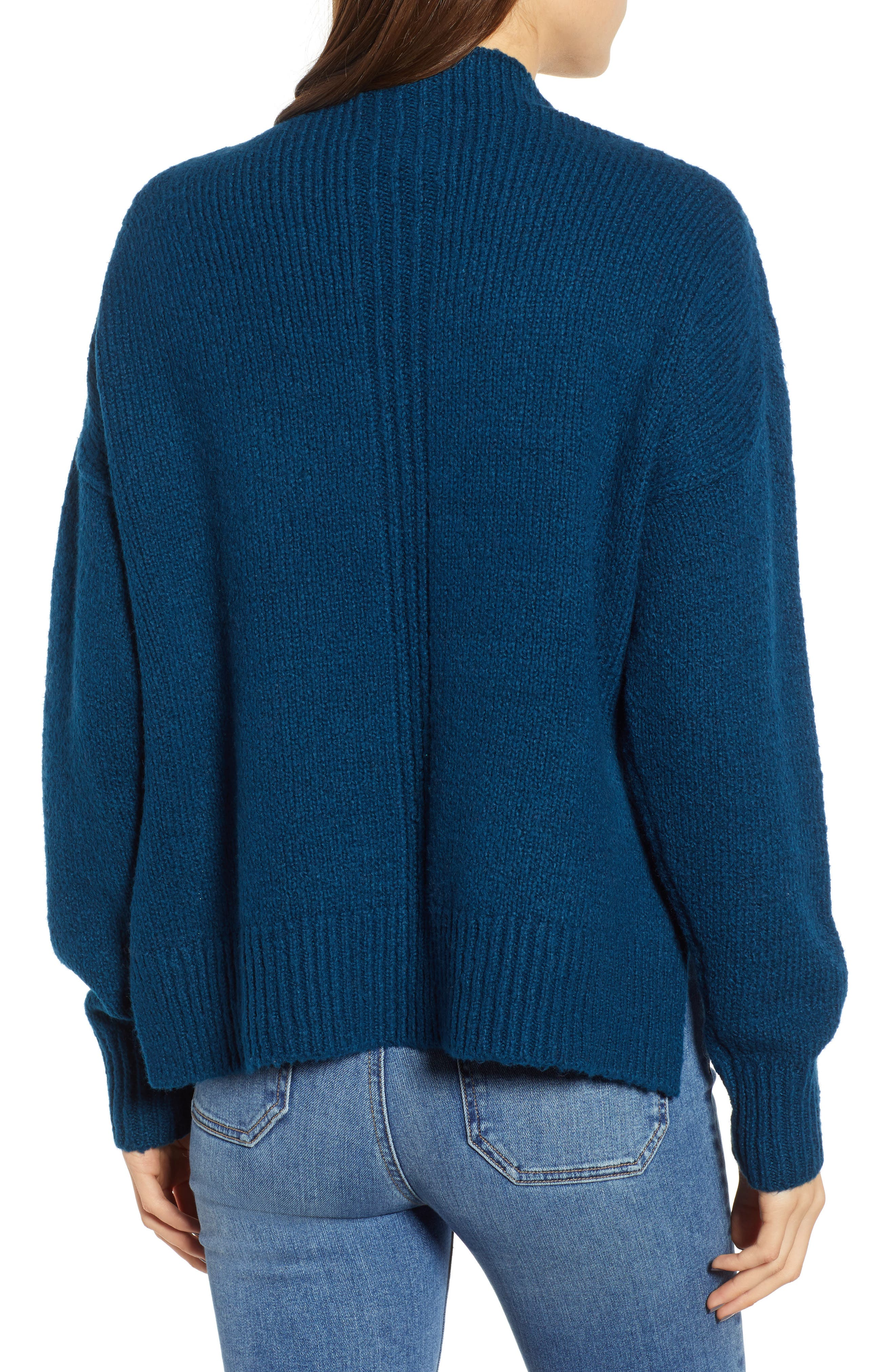 Fuzzy Side Slit Sweater,                             Alternate thumbnail 2, color,                             401