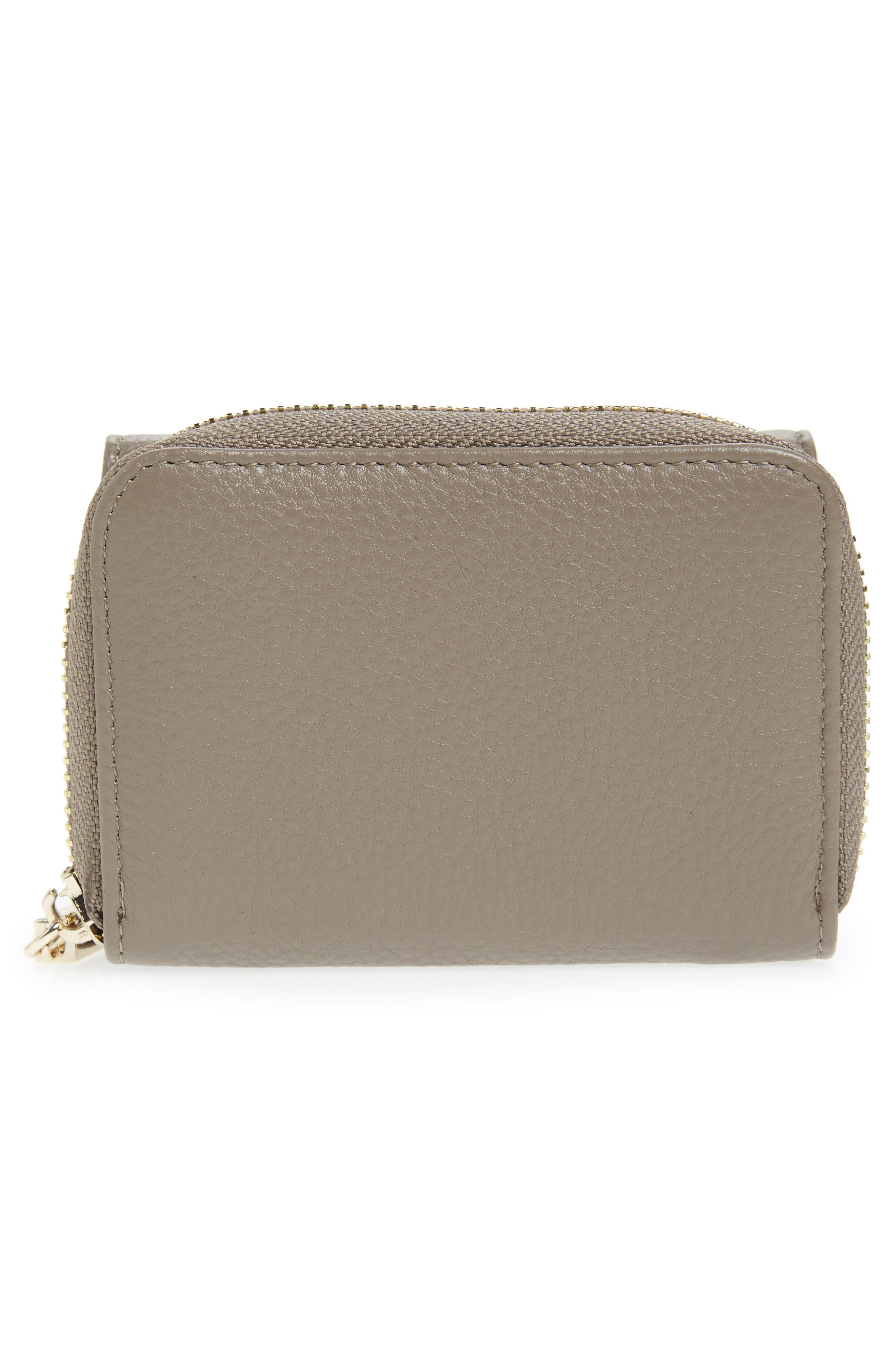 Céline Dion Small Adagio Leather Wallet,                             Alternate thumbnail 15, color,