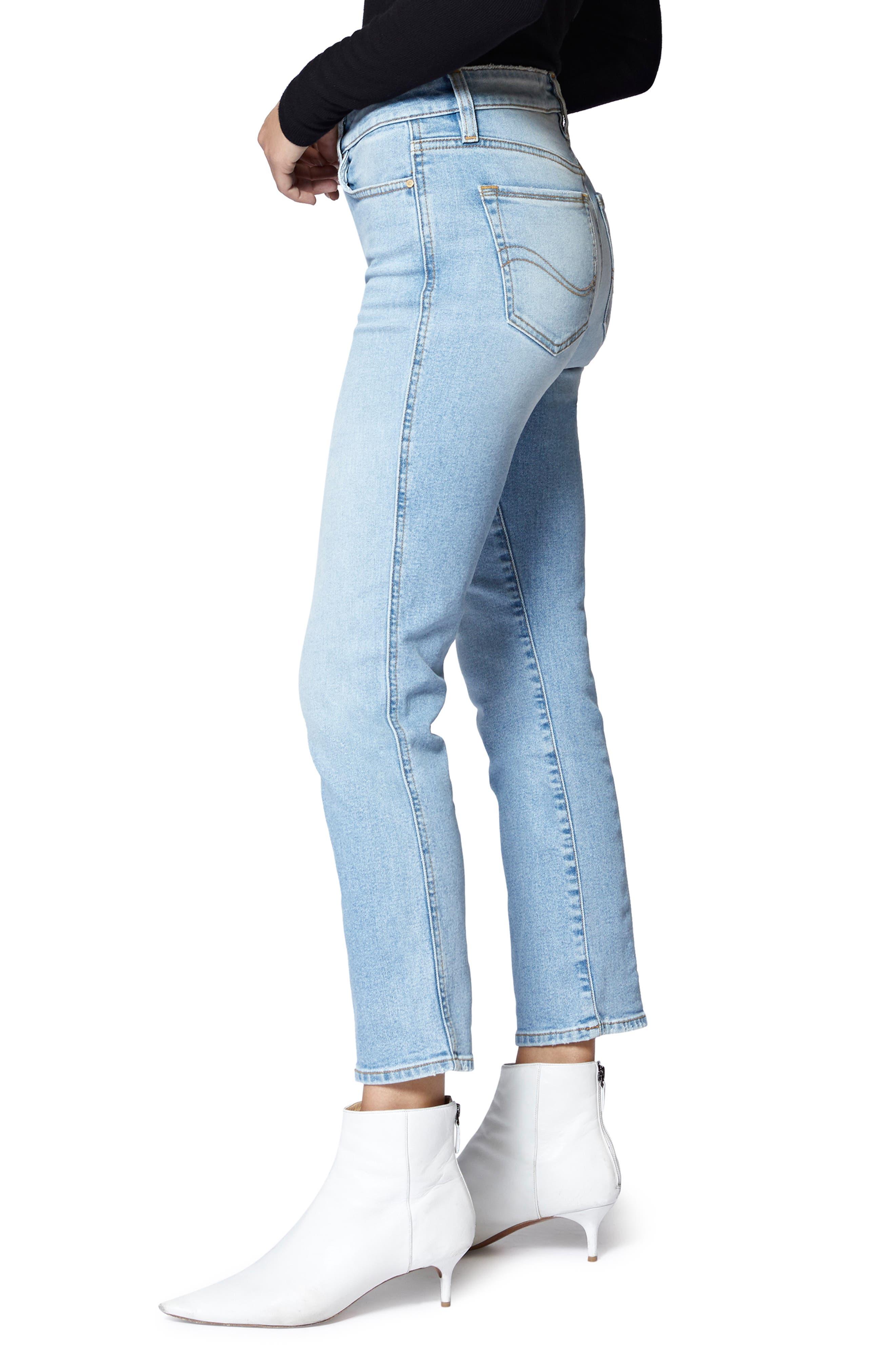 Modern Crop Straight Leg Jeans,                             Alternate thumbnail 3, color,                             FORUM LIGHT BLUE
