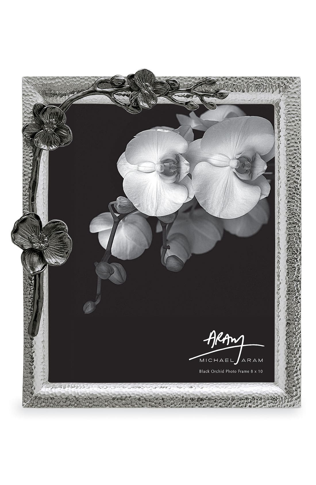 Black Orchid Picture Frame,                             Main thumbnail 1, color,                             OXFORD