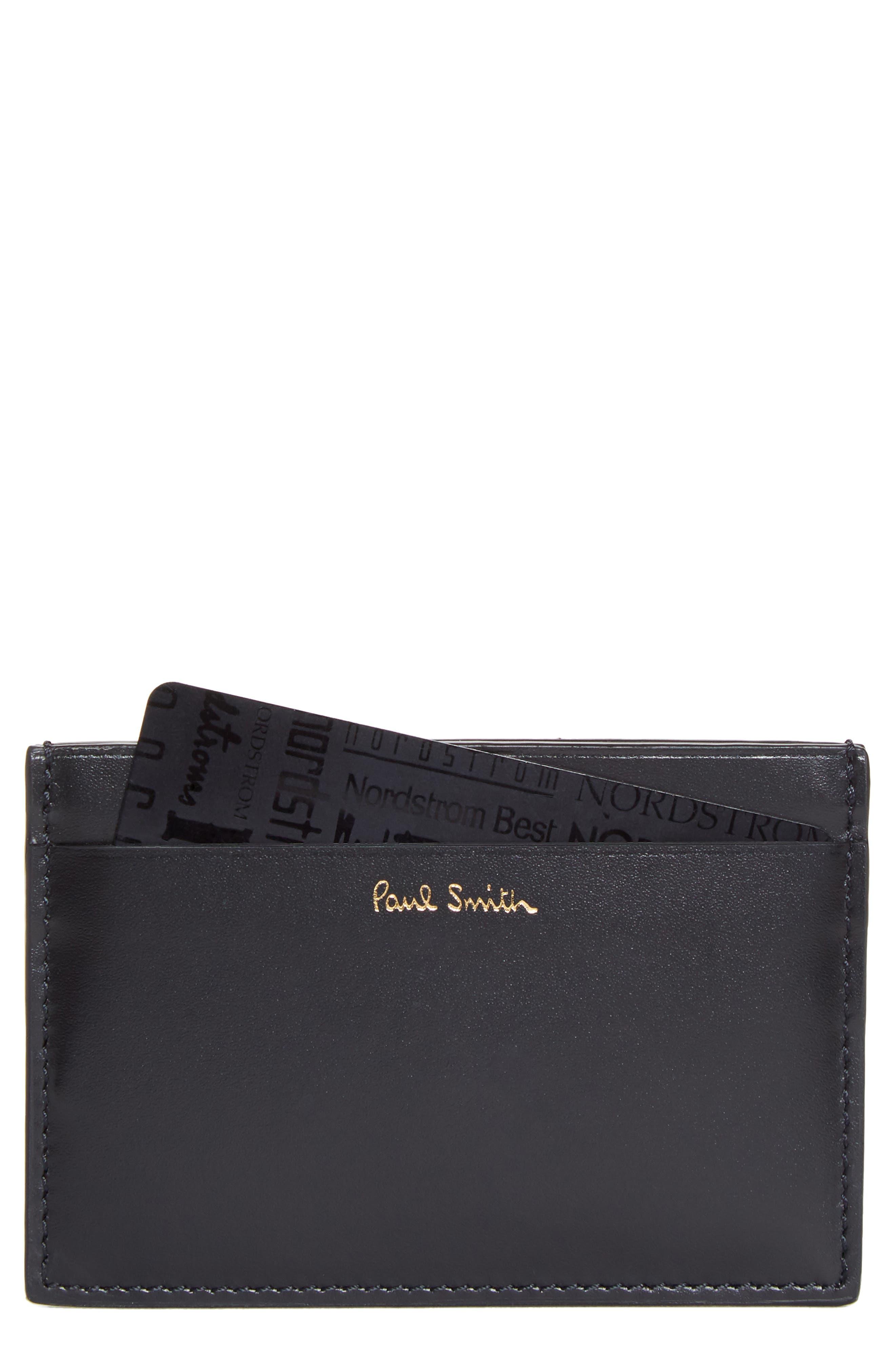 Horniman Print Calfskin Leather Card Case,                             Main thumbnail 1, color,                             001
