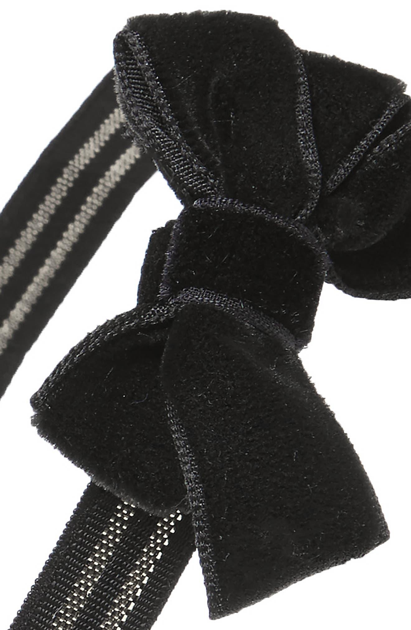 Velvet Bow Headband,                             Alternate thumbnail 2, color,                             020