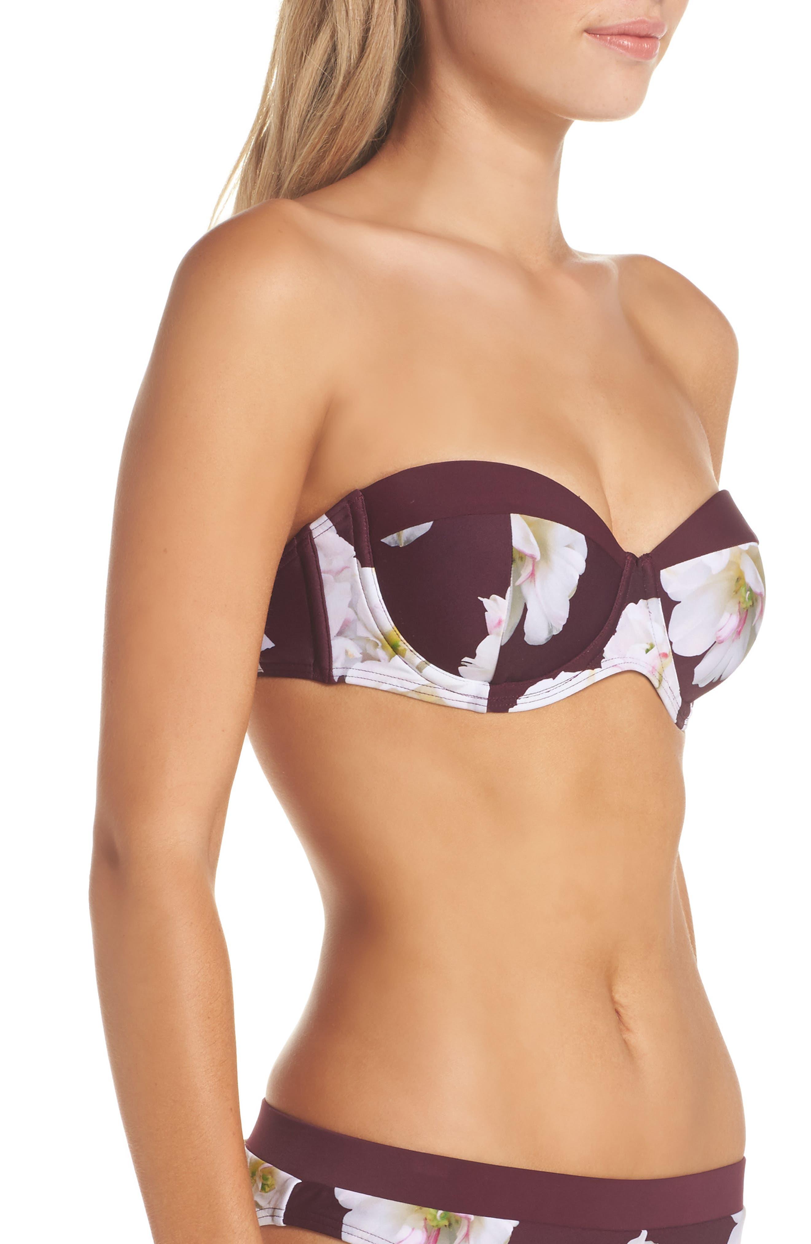 Gardea Gardenia Underwire Bikini Top,                             Alternate thumbnail 3, color,                             930