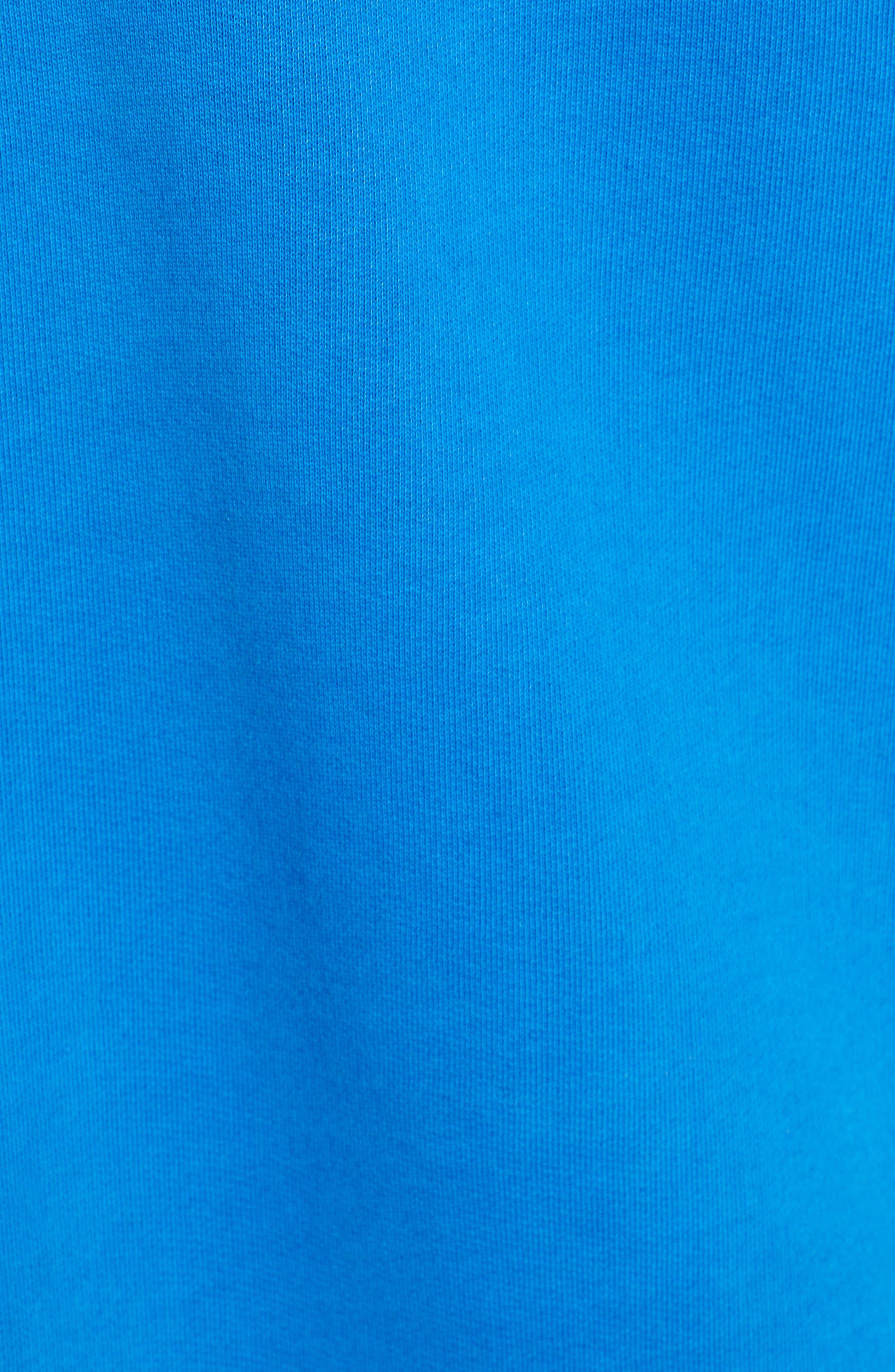 Neon Oversize Hoodie,                             Alternate thumbnail 5, color,                             BLUE