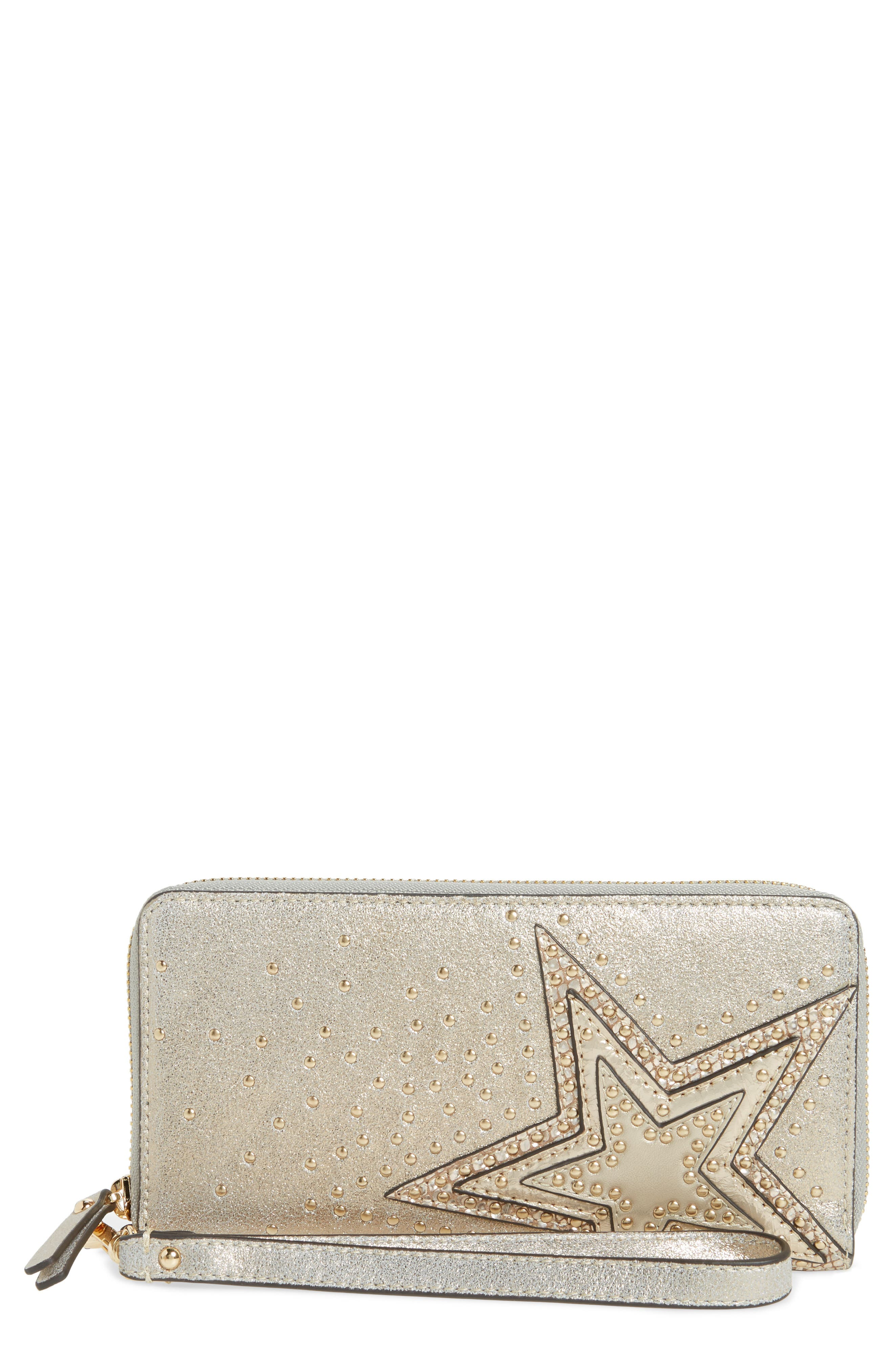 Taz Leather Zip Around Wallet,                         Main,                         color, 250