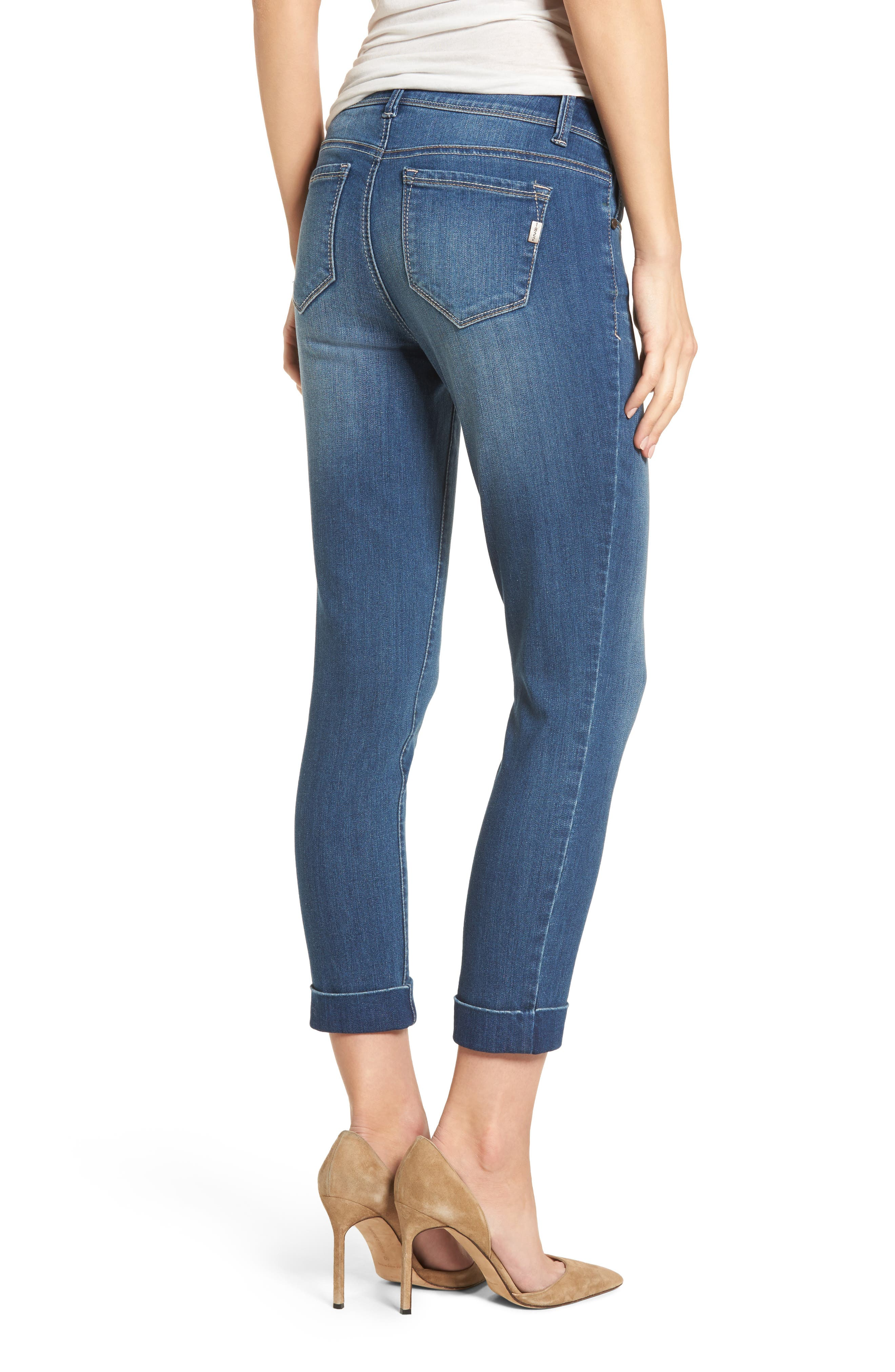 Cuff Roll Skinny Crop Jeans,                             Alternate thumbnail 2, color,                             LOUISE