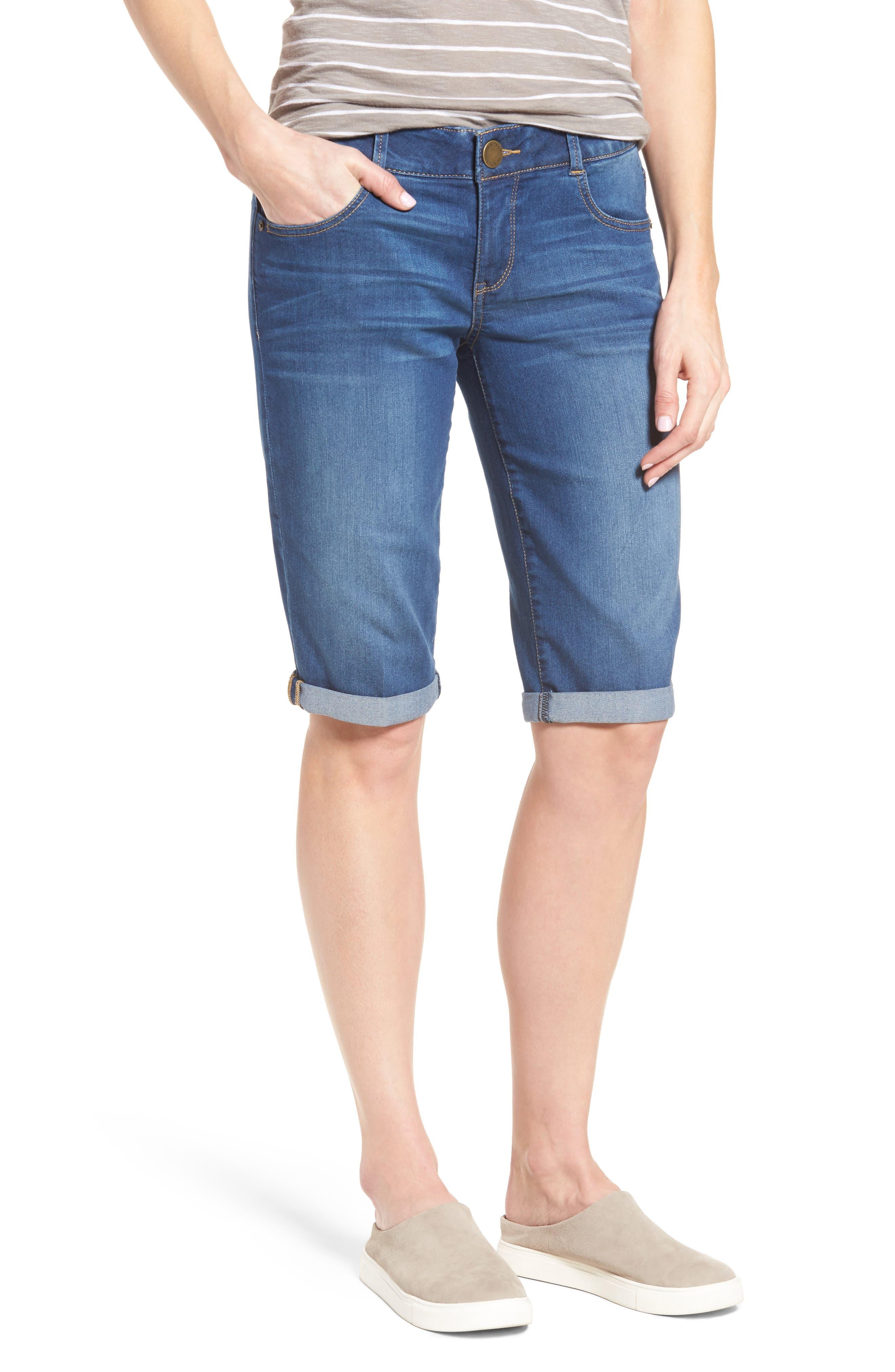 Ab-solution Denim Bermuda Shorts,                         Main,                         color, 420
