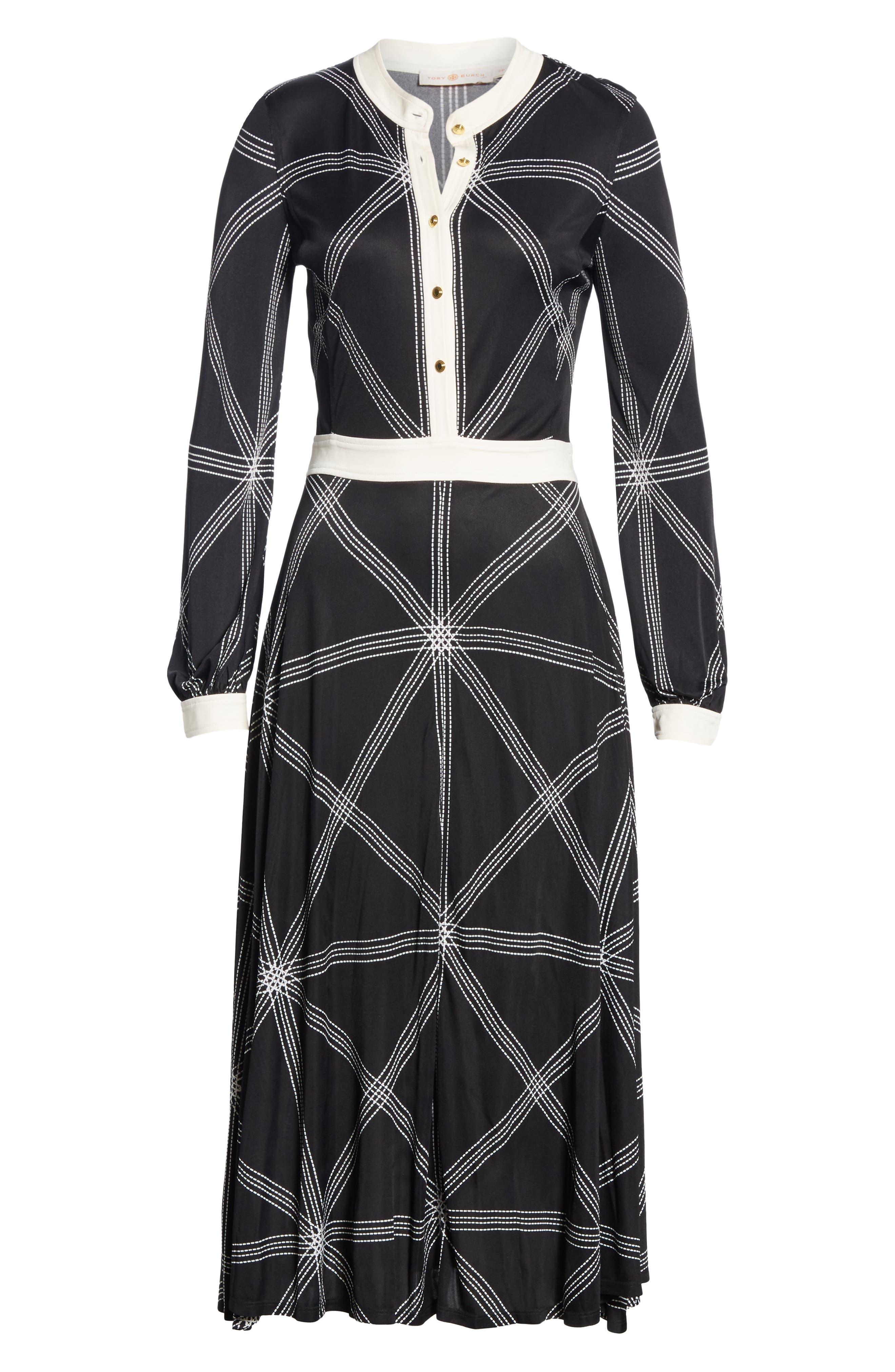 Anja Midi Dress,                             Alternate thumbnail 6, color,                             001