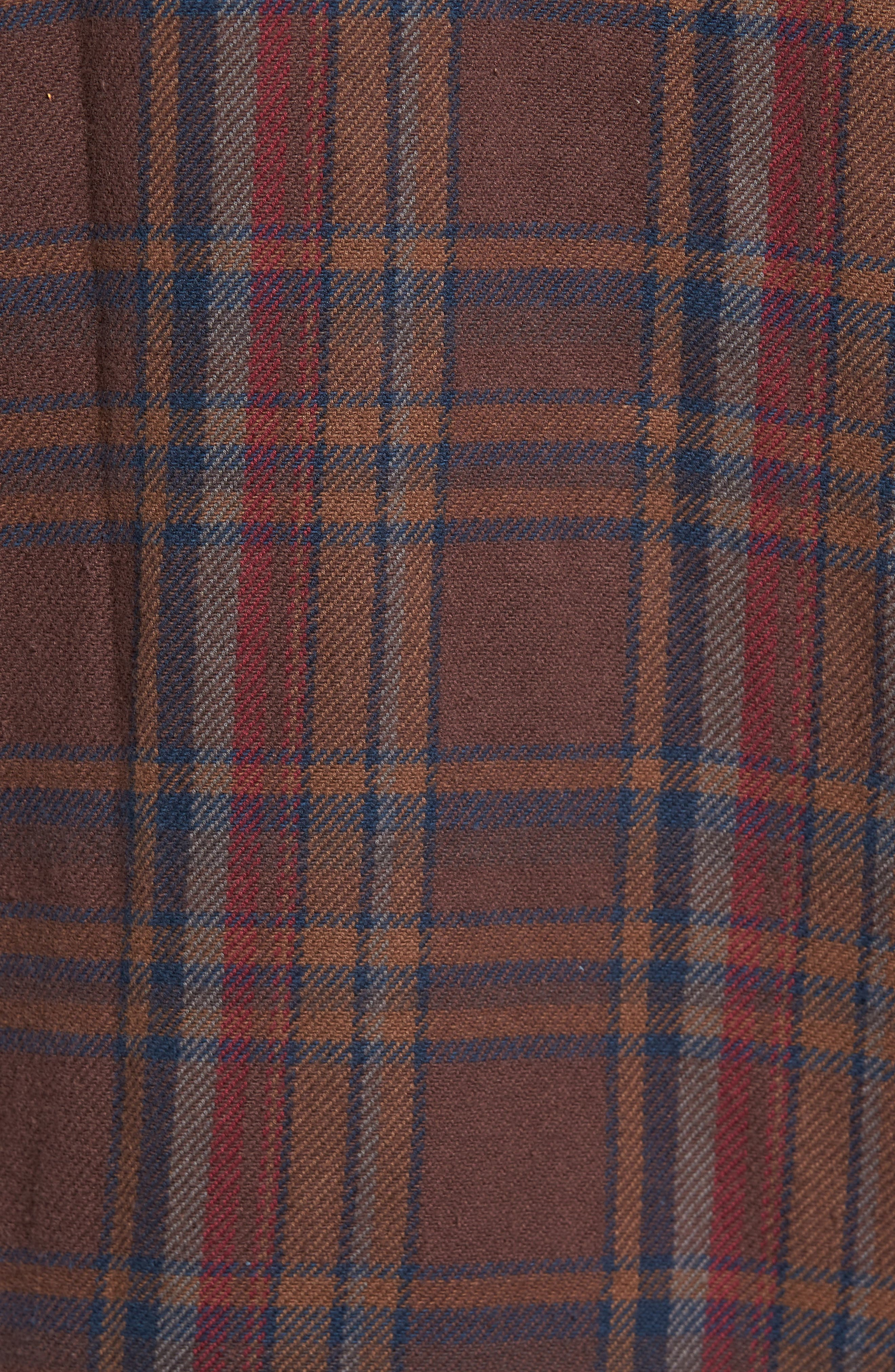 Camino Flannel Shirt,                             Alternate thumbnail 5, color,                             203