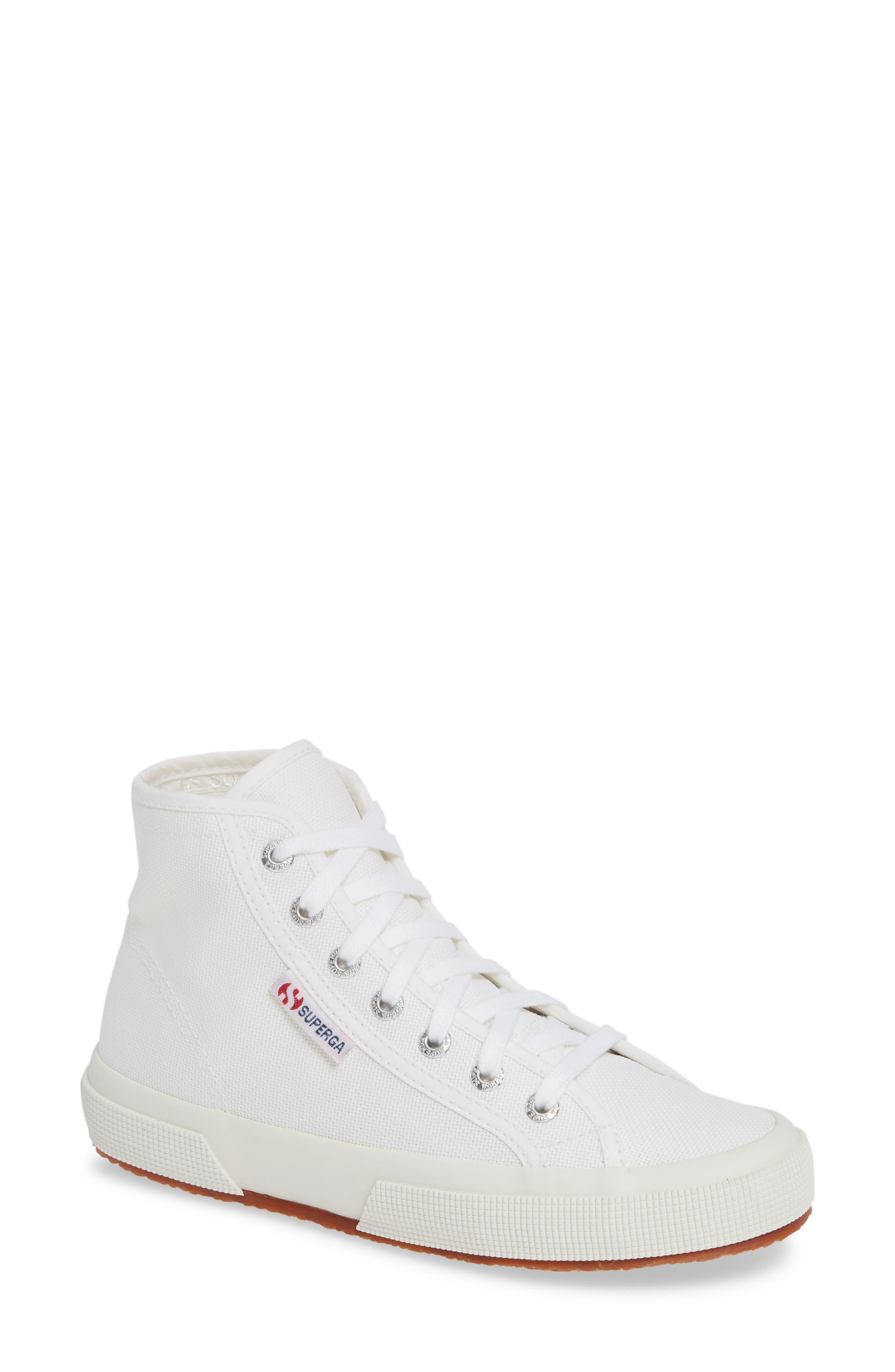 2795 High Top Sneaker,                             Main thumbnail 1, color,                             WHITE