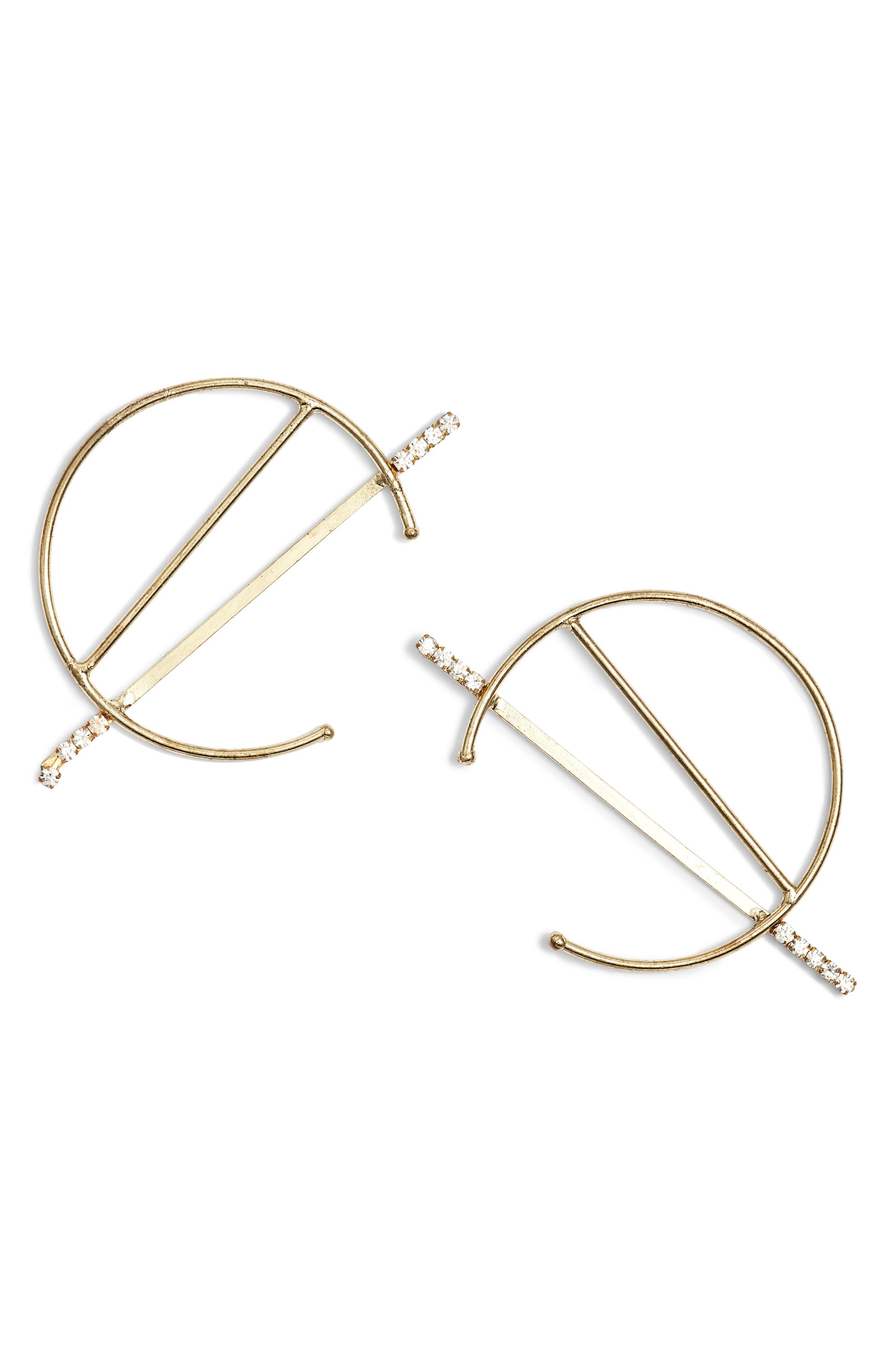 AREA STARS Danielle Circle & Bar Earrings in Gold