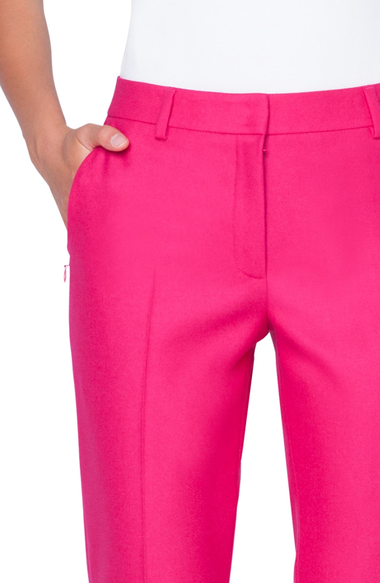 Melvin Stretch Wool Flannel Pants,                             Alternate thumbnail 3, color,                             067 PINK