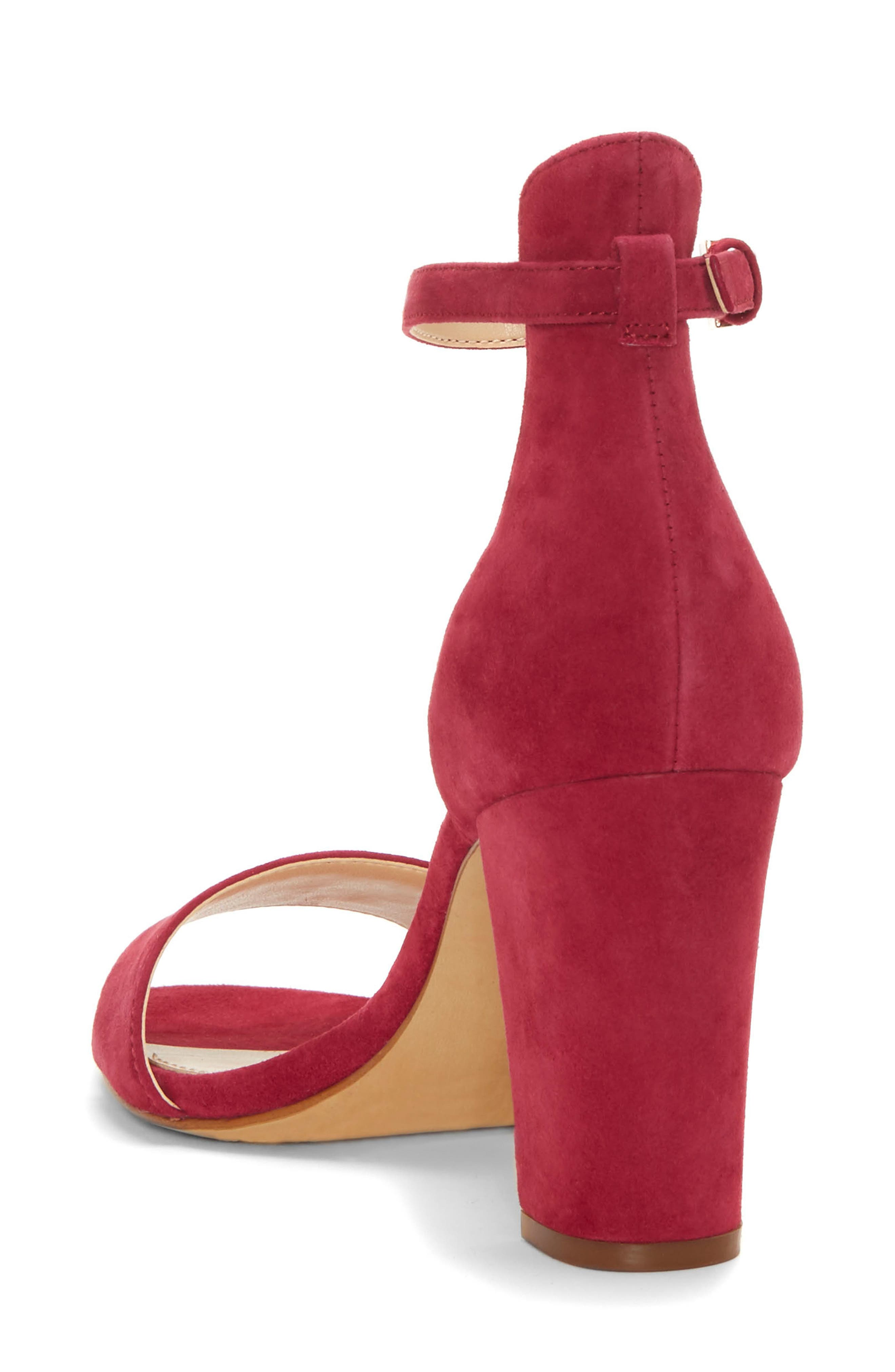 Corlina Ankle Strap Sandal,                             Alternate thumbnail 2, color,                             SWEET BERRY SUEDE