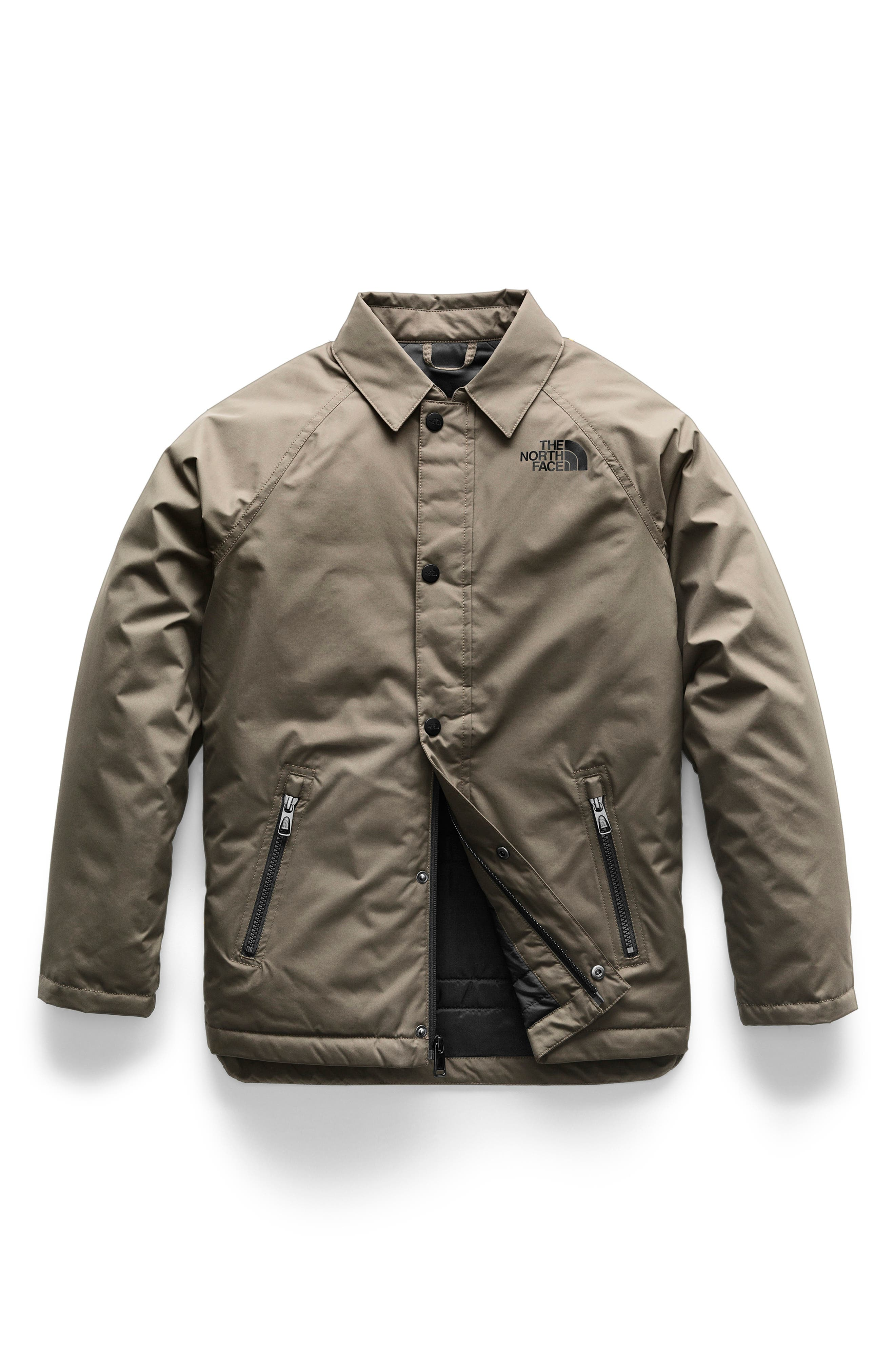 Insulated Coach's Jacket,                             Main thumbnail 1, color,                             NEW TAUPE GREEN