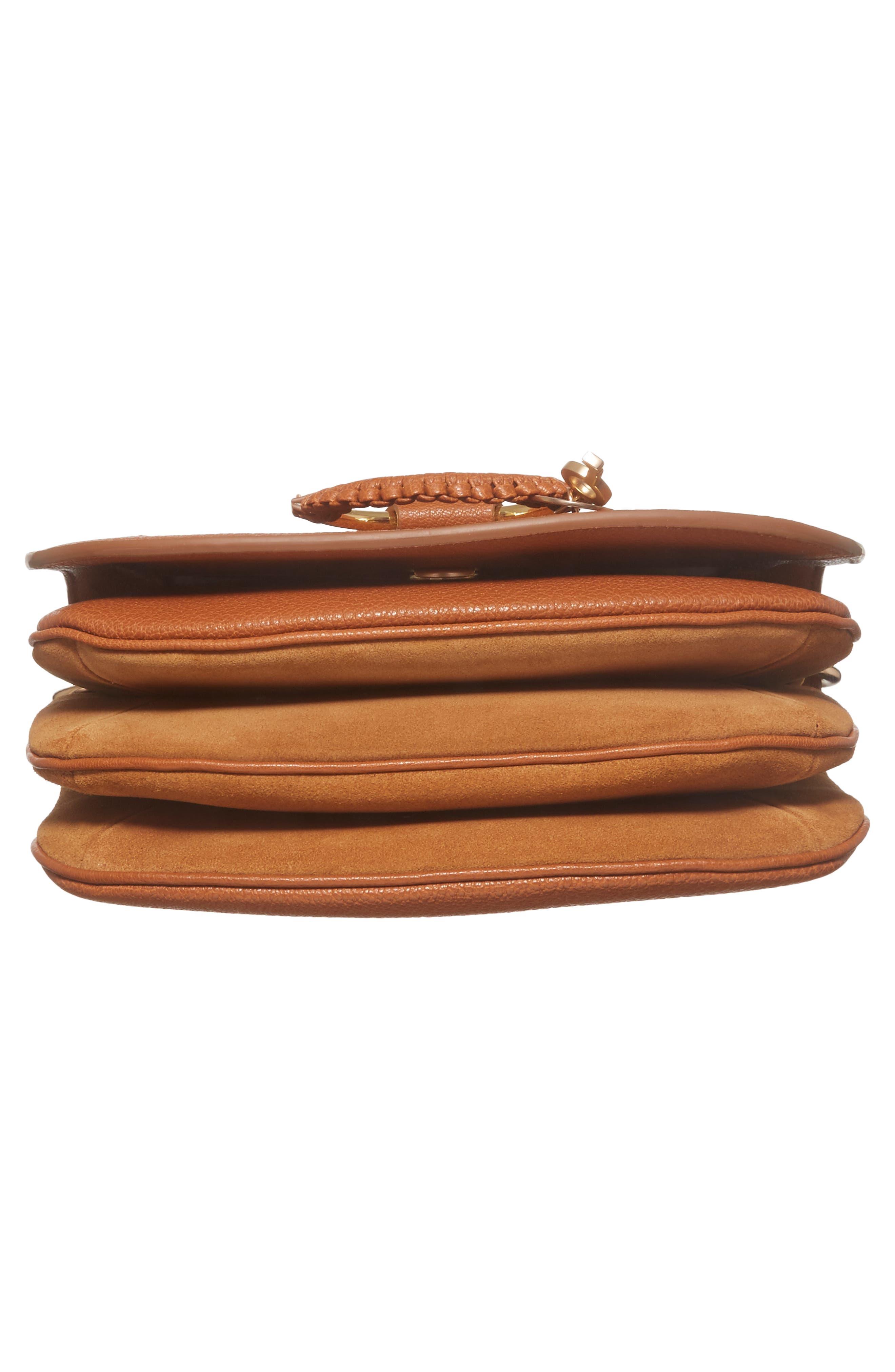 Hana Small Leather Crossbody Bag,                             Alternate thumbnail 29, color,