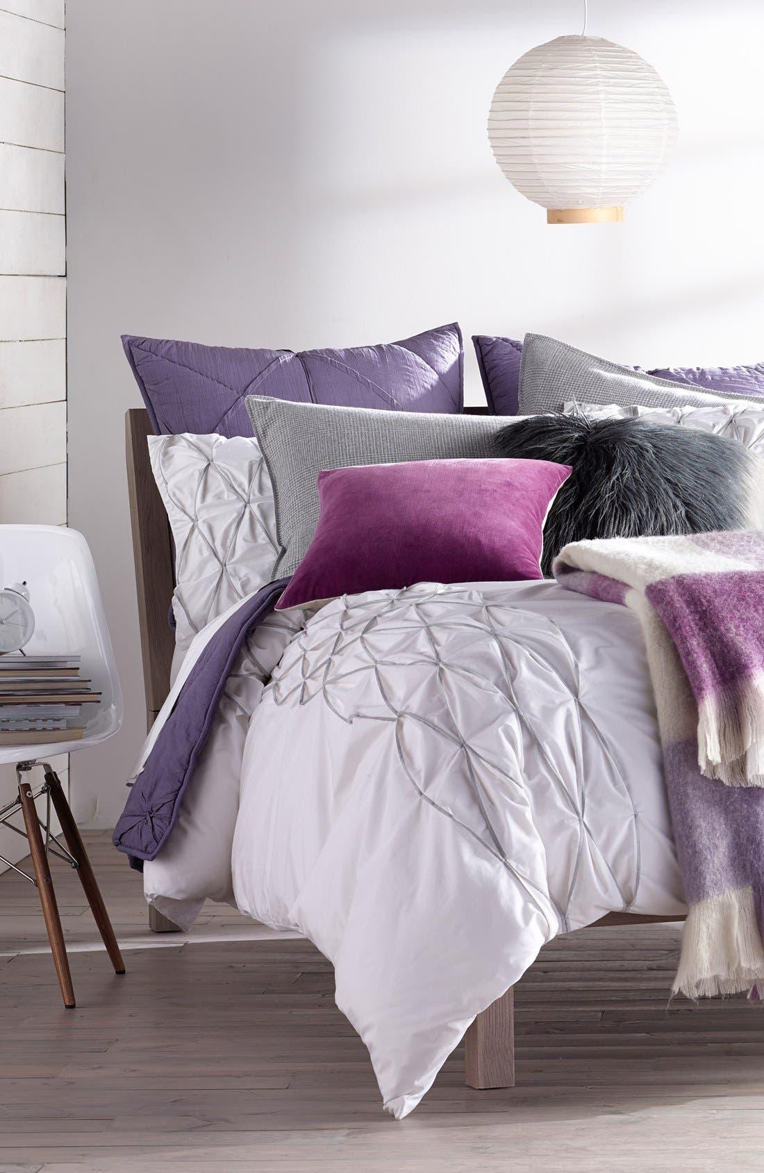 Ombré Faux Fur Flokati Accent Pillow,                             Alternate thumbnail 16, color,