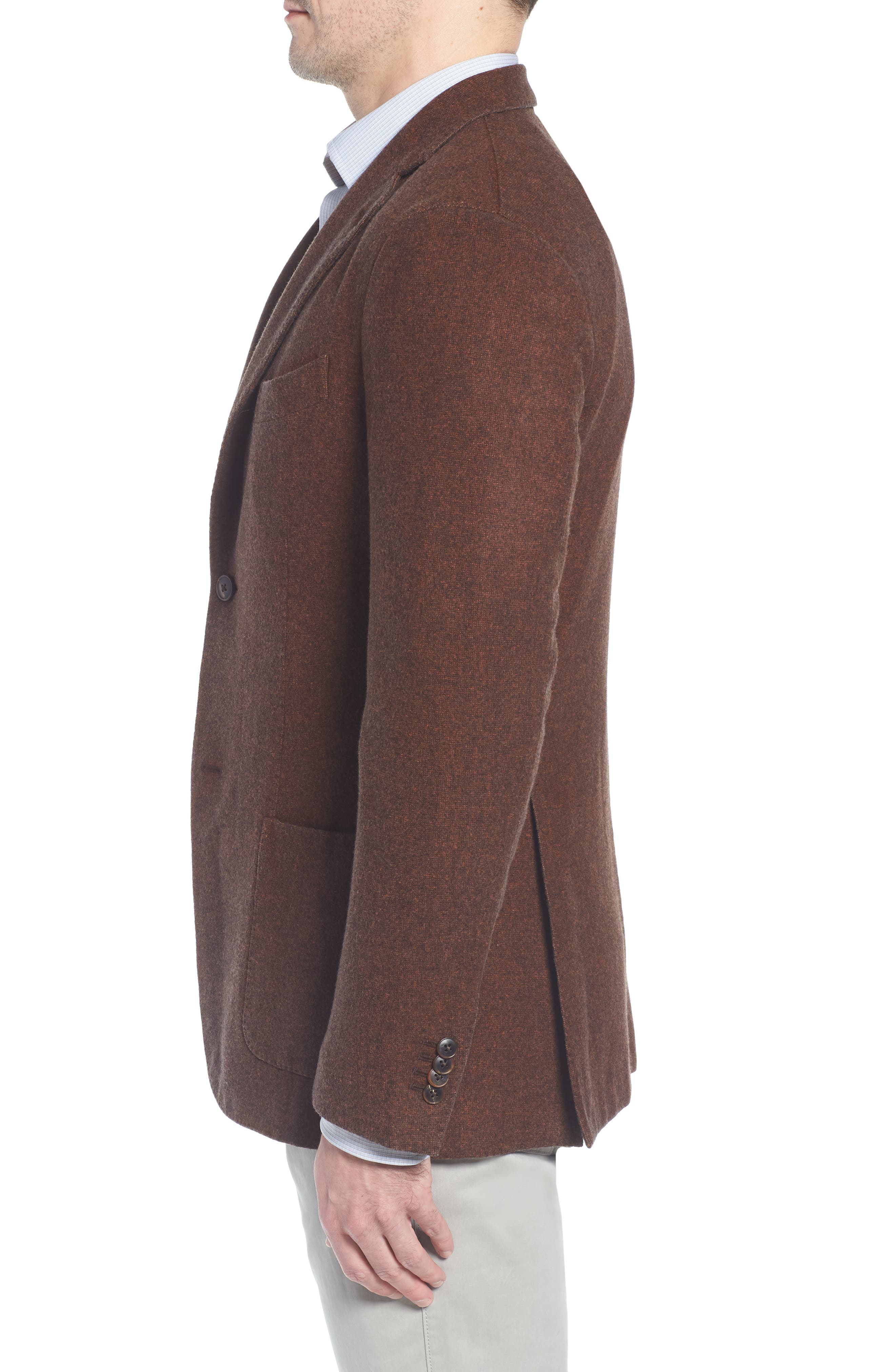 Trim Fit Wool Blazer,                             Alternate thumbnail 3, color,